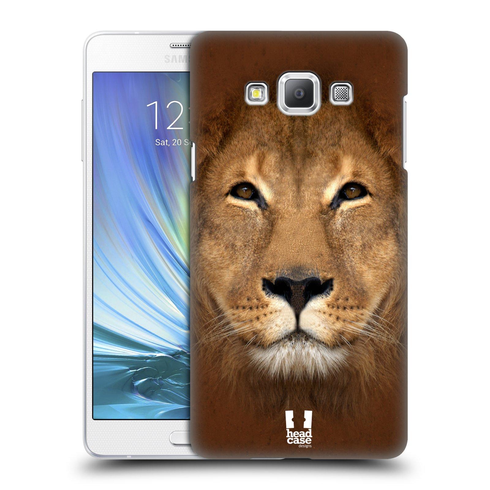 HEAD CASE plastový obal na mobil SAMSUNG GALAXY A7 vzor Zvířecí tváře 2 Lev