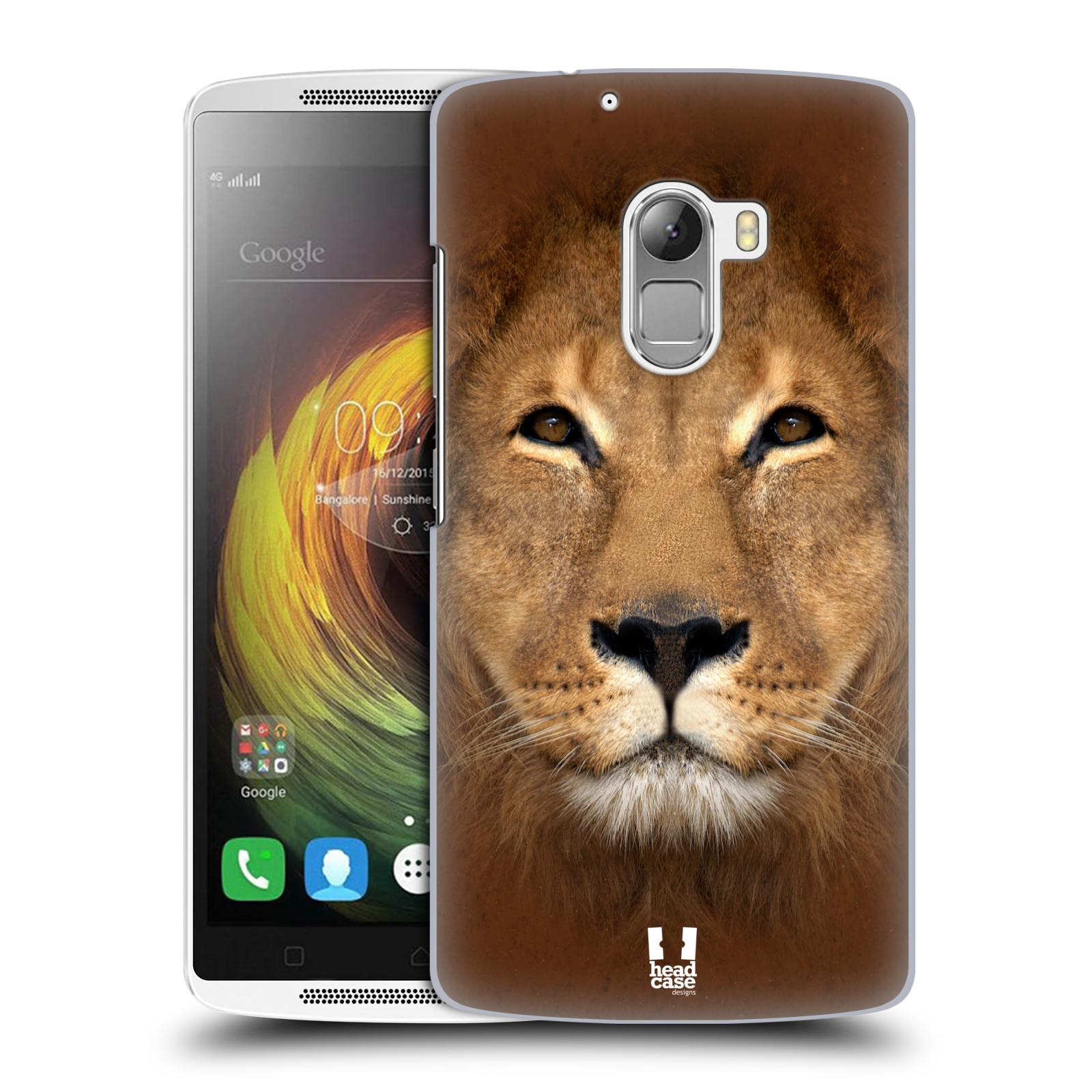 HEAD CASE pevný plastový obal na mobil LENOVO A7010 / A7010 DUAL / K4 Note / Vibe X3 lite vzor Zvířecí tváře 2 Lev