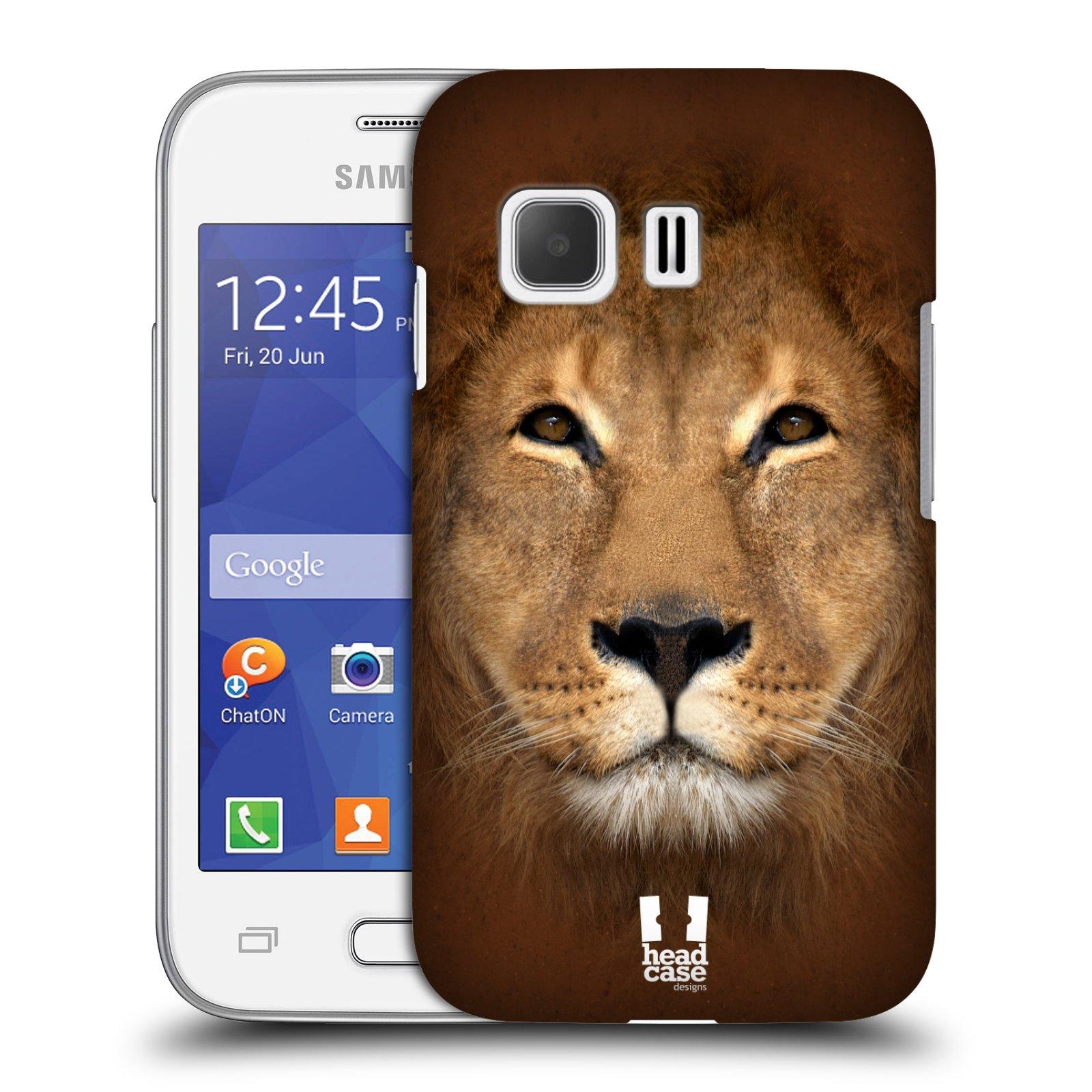 HEAD CASE plastový obal na mobil SAMSUNG Galaxy Young 2 (G130) vzor Zvířecí tváře 2 Lev