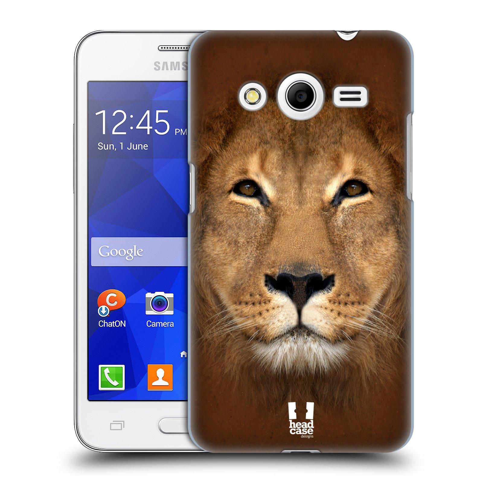 HEAD CASE plastový obal na mobil SAMSUNG GALAXY Core 2 (G355H) vzor Zvířecí tváře 2 Lev