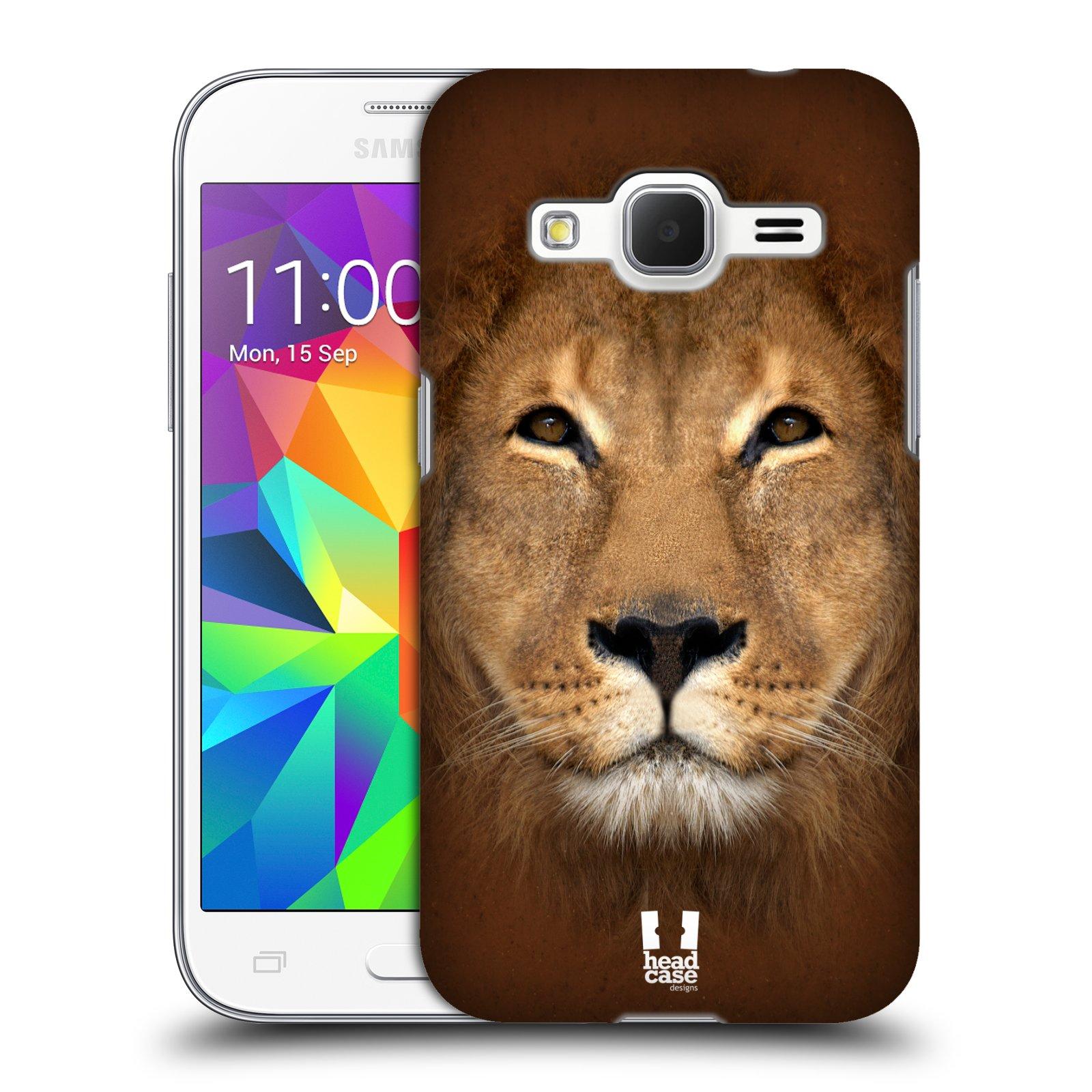 HEAD CASE plastový obal na mobil SAMSUNG GALAXY Core Prime (Core Prime VE) vzor Zvířecí tváře 2 Lev