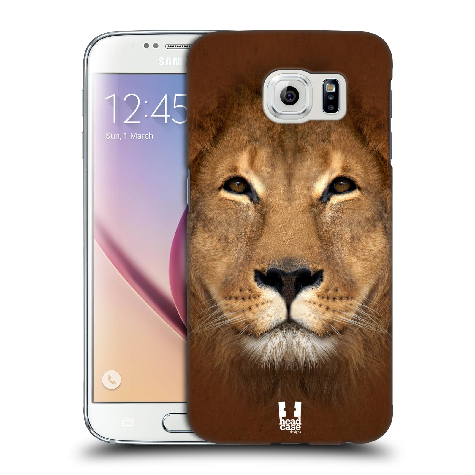 HEAD CASE plastový obal na mobil SAMSUNG Galaxy S6 (G9200, G920F) vzor Zvířecí tváře 2 Lev