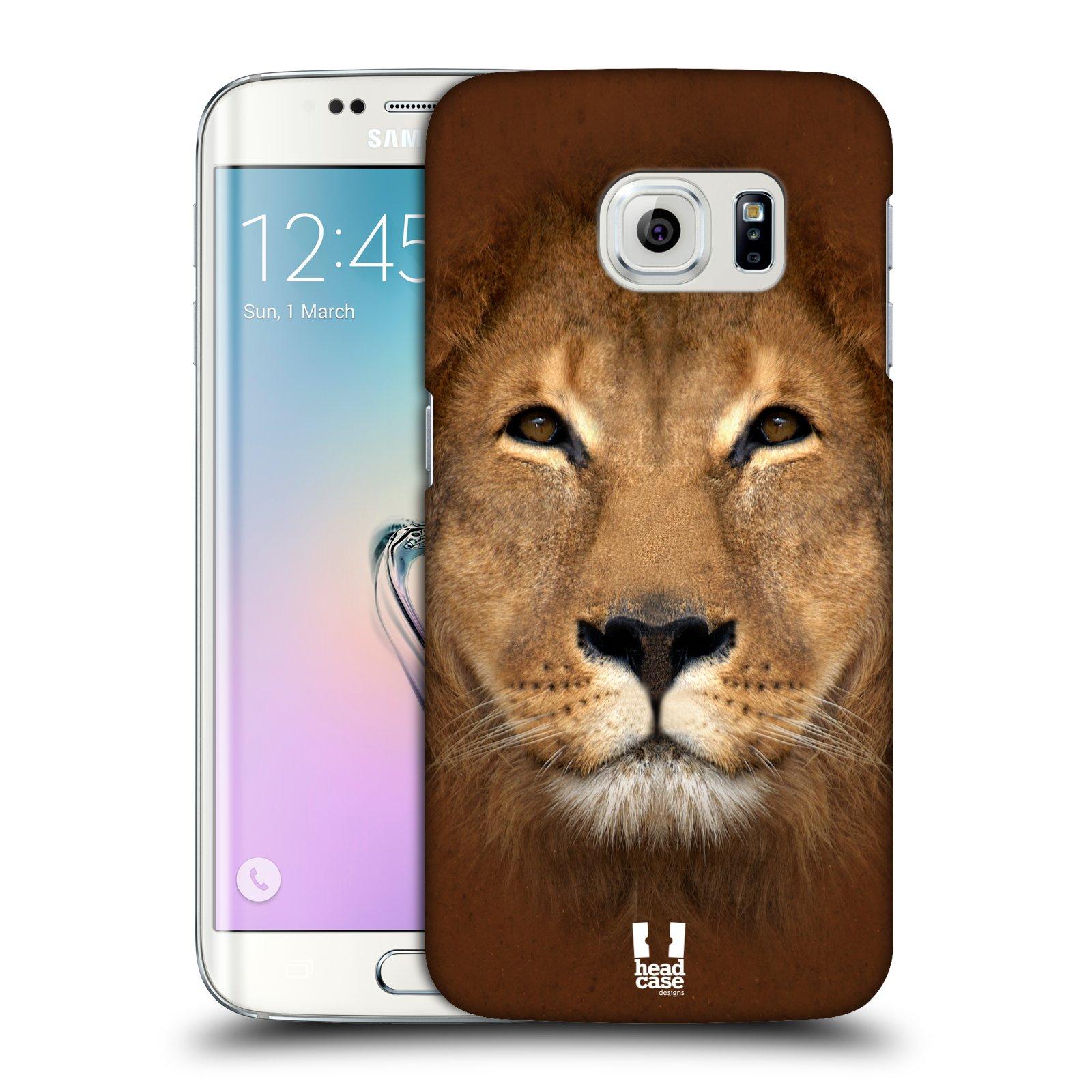 HEAD CASE plastový obal na mobil SAMSUNG Galaxy S6 EDGE (G9250, G925, G925F) vzor Zvířecí tváře 2 Lev