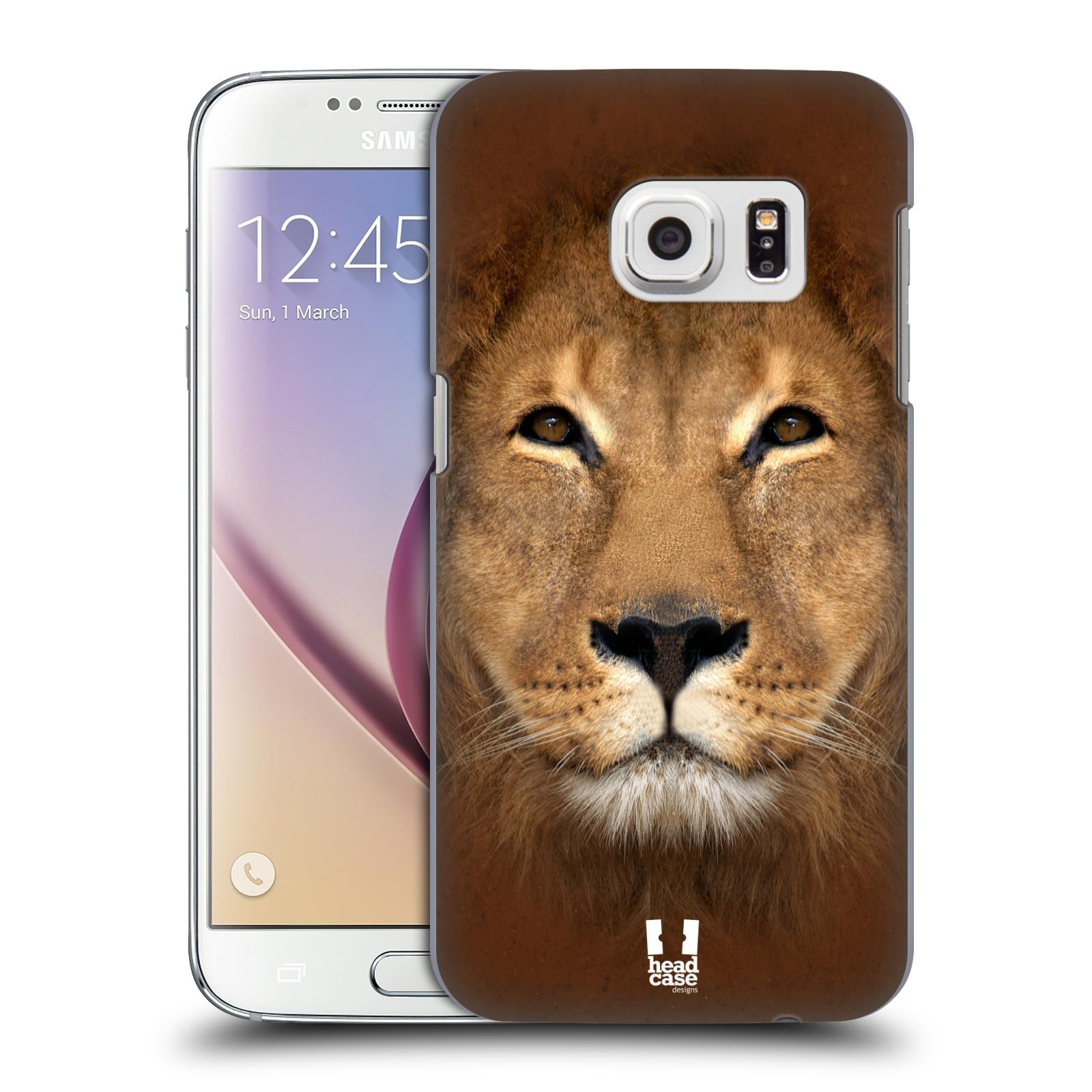 HEAD CASE plastový obal na mobil SAMSUNG GALAXY S7 vzor Zvířecí tváře 2 Lev
