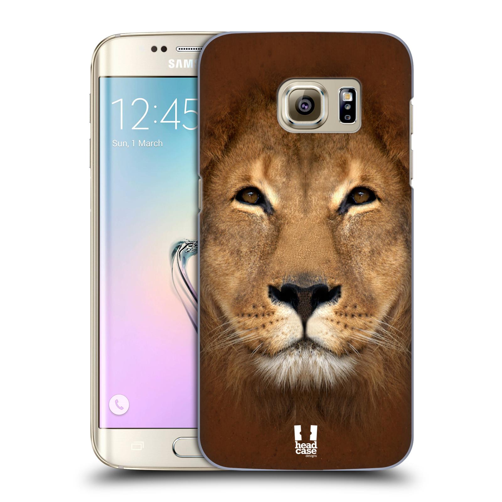 HEAD CASE plastový obal na mobil SAMSUNG GALAXY S7 EDGE vzor Zvířecí tváře 2 Lev
