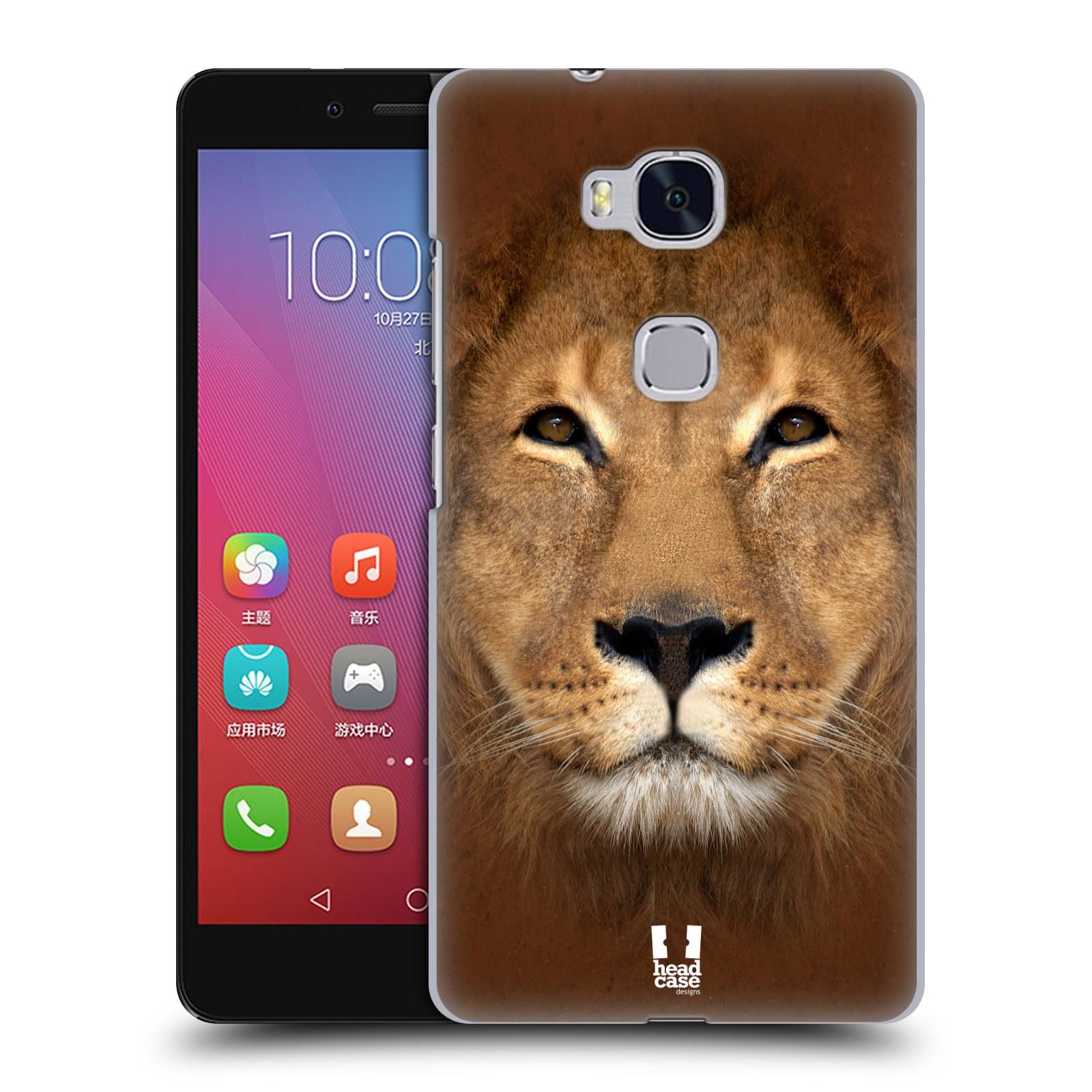 HEAD CASE pevný plastový obal na mobil HUAWEI HONOR 5X vzor Zvířecí tváře 2 Lev