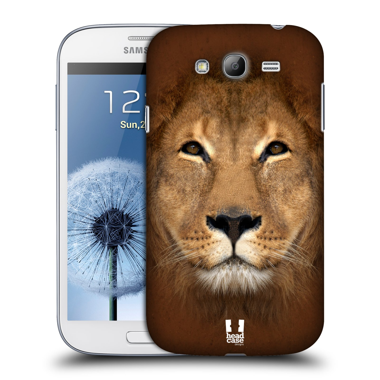HEAD CASE plastový obal na mobil SAMSUNG GALAXY Grand i9080 vzor Zvířecí tváře 2 Lev