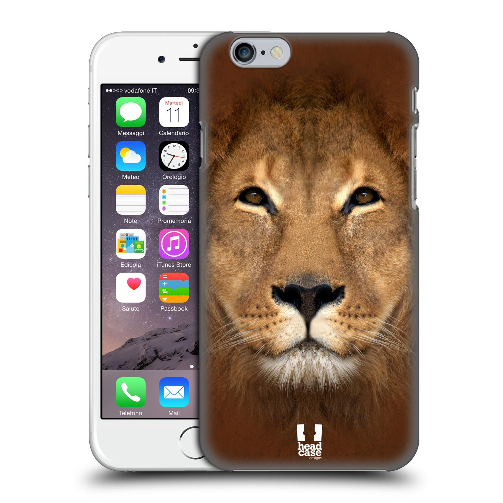 Plastové pouzdro pro mobil Apple Iphone 6/6S vzor Zvířecí tváře 2 Lev