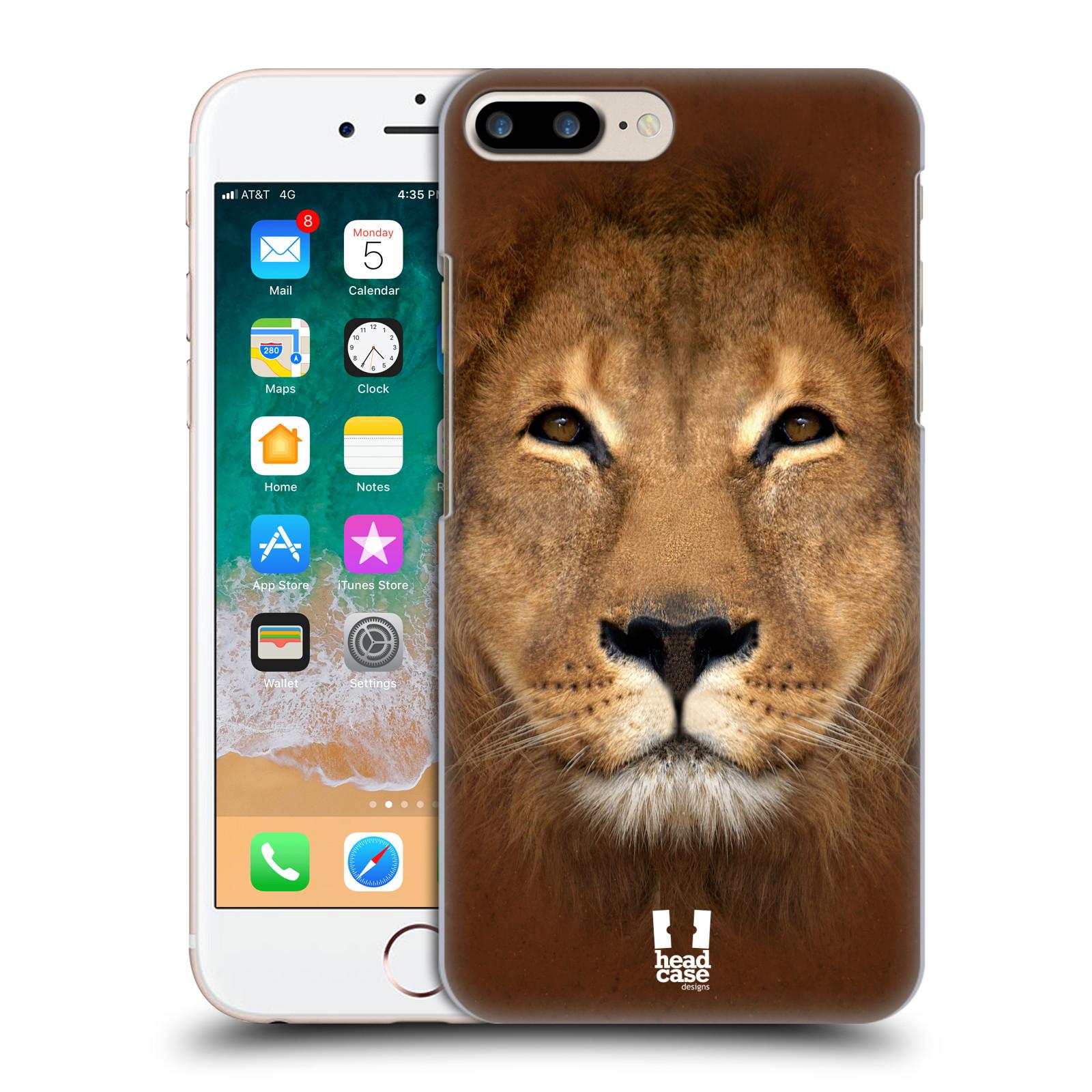 HEAD CASE plastový obal na mobil Apple Iphone 7 PLUS vzor Zvířecí tváře 2 Lev