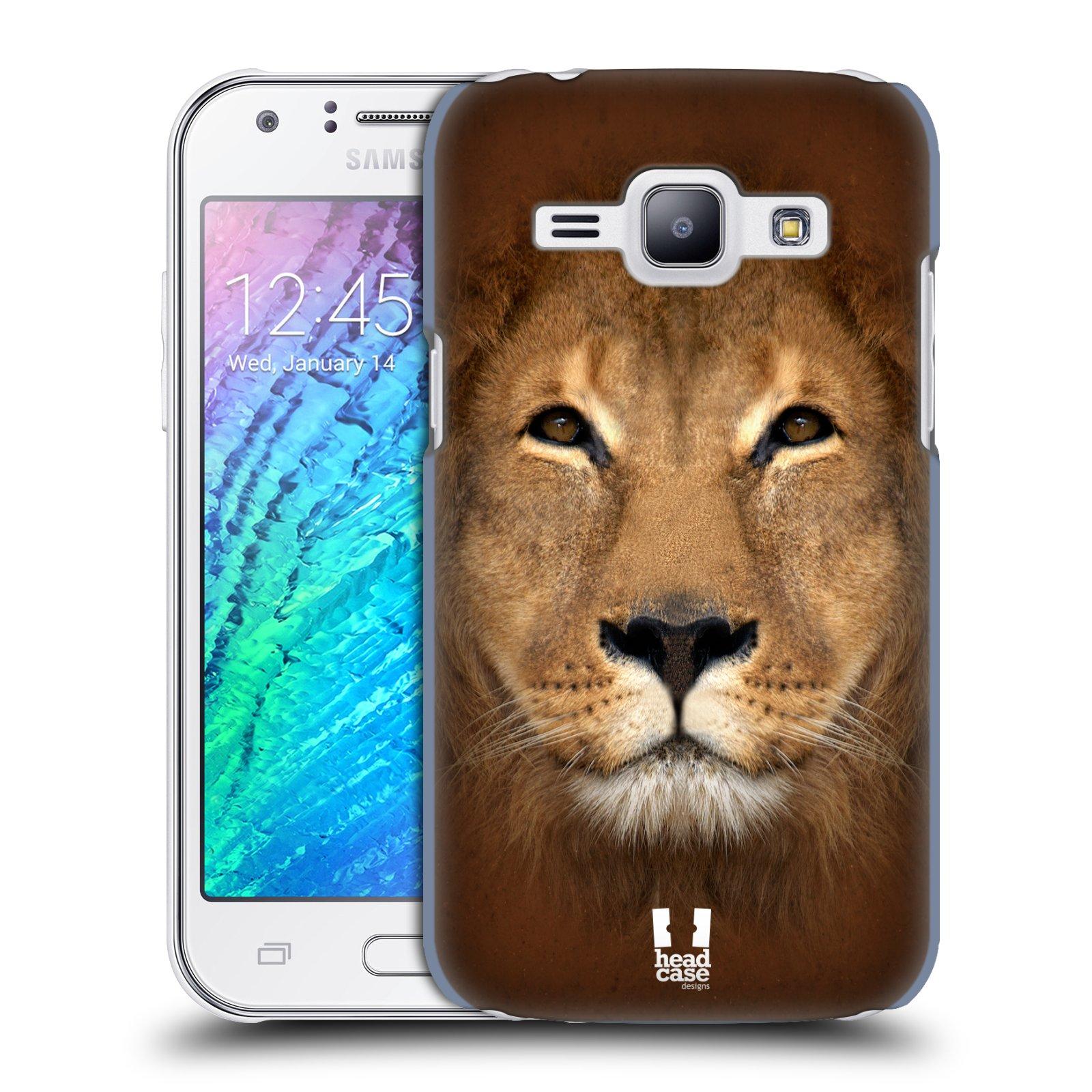 HEAD CASE plastový obal na mobil SAMSUNG Galaxy J1, J100 vzor Zvířecí tváře 2 Lev