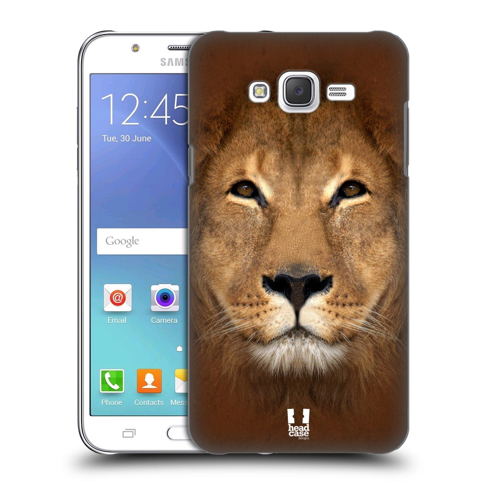 HEAD CASE plastový obal na mobil SAMSUNG Galaxy J7, J700 vzor Zvířecí tváře 2 Lev