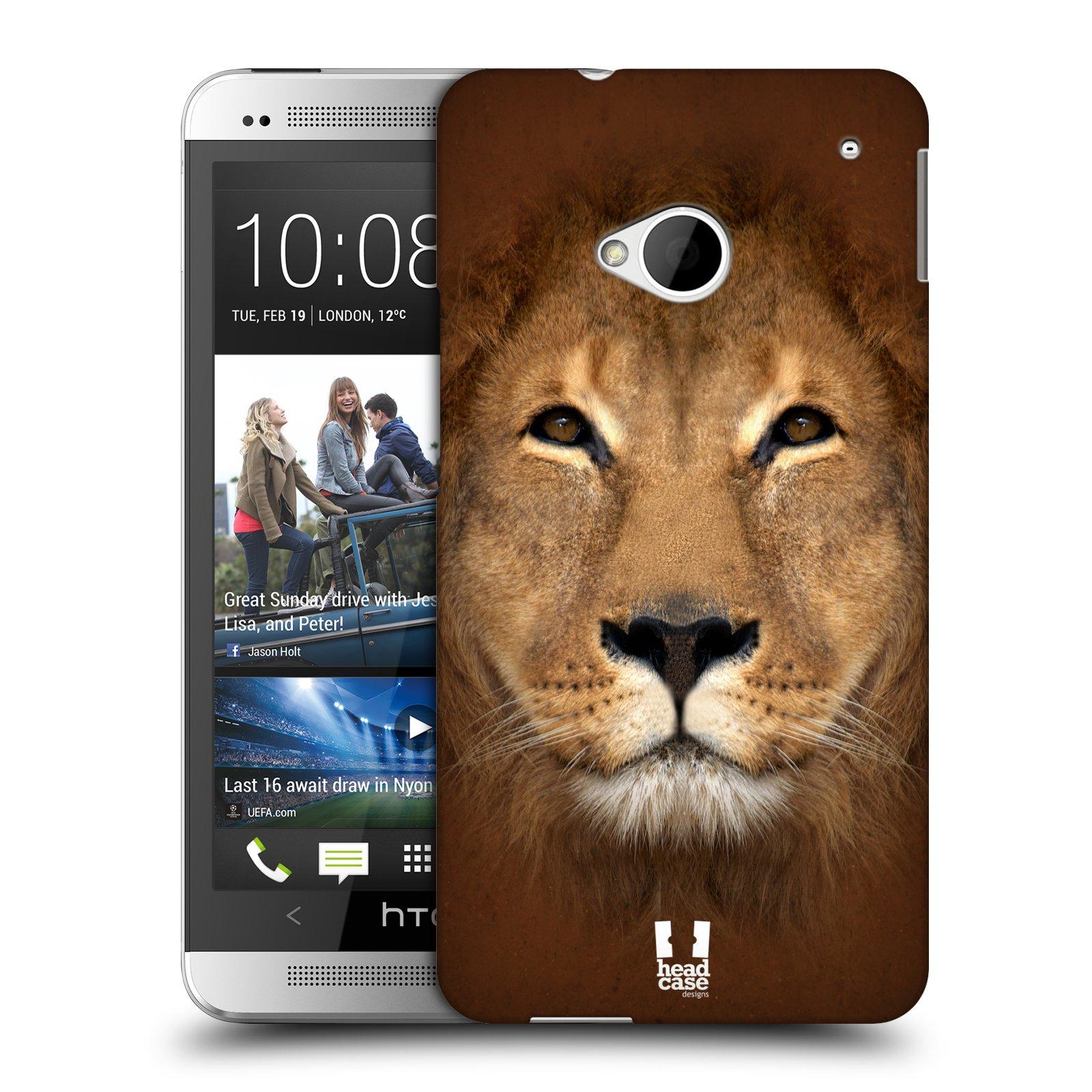 HEAD CASE plastový obal na mobil HTC One (M7) vzor Zvířecí tváře 2 Lev