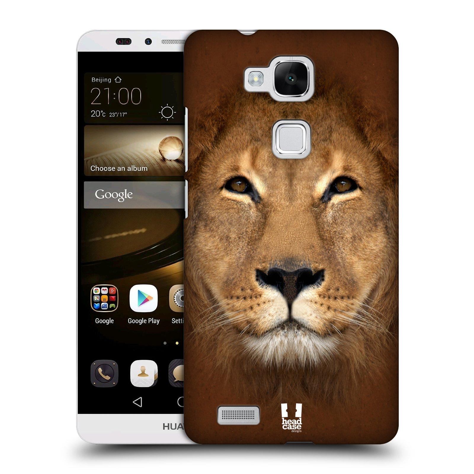 HEAD CASE plastový obal na mobil Huawei Mate 7 vzor Zvířecí tváře 2 Lev
