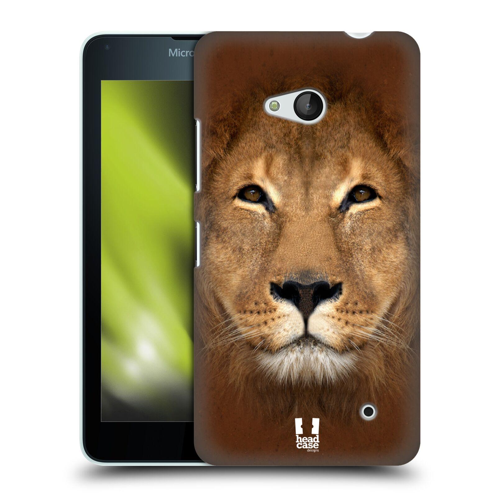 HEAD CASE plastový obal na mobil Nokia Lumia 640 vzor Zvířecí tváře 2 Lev