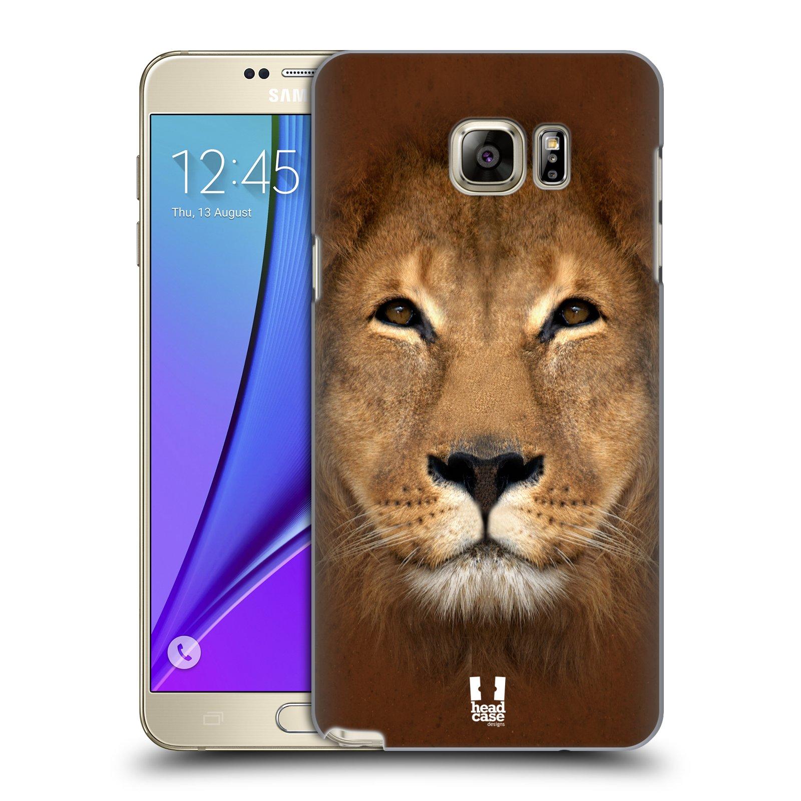 HEAD CASE plastový obal na mobil SAMSUNG Galaxy Note 5 (N920) vzor Zvířecí tváře 2 Lev