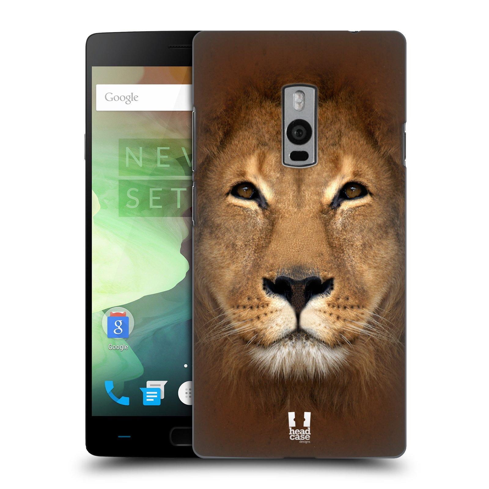 HEAD CASE pevný plastový obal na mobil OnePlus 2  ( TWO ) vzor Zvířecí tváře 2 Lev