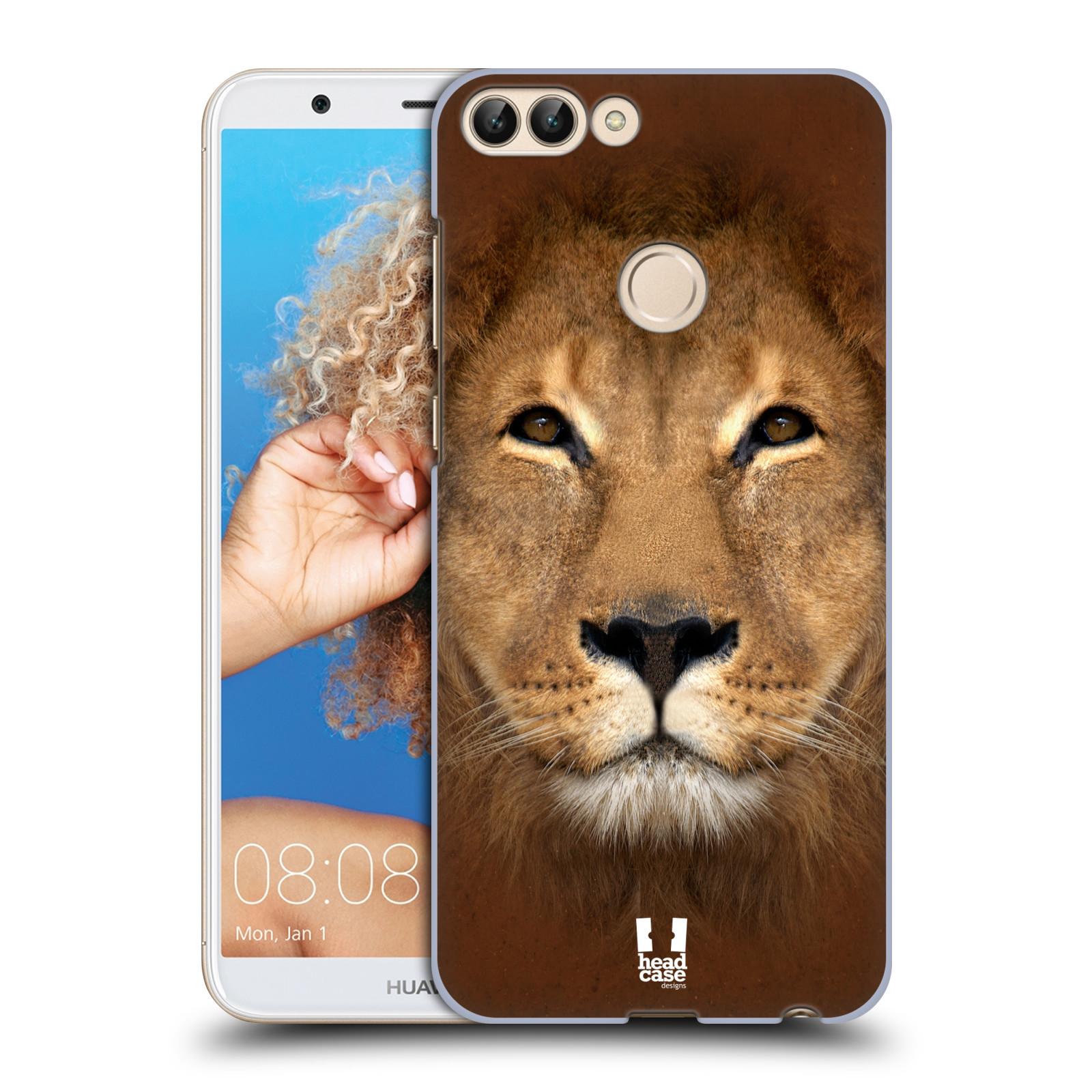 HEAD CASE plastový obal na mobil Huawei P Smart vzor Zvířecí tváře 2 Lev