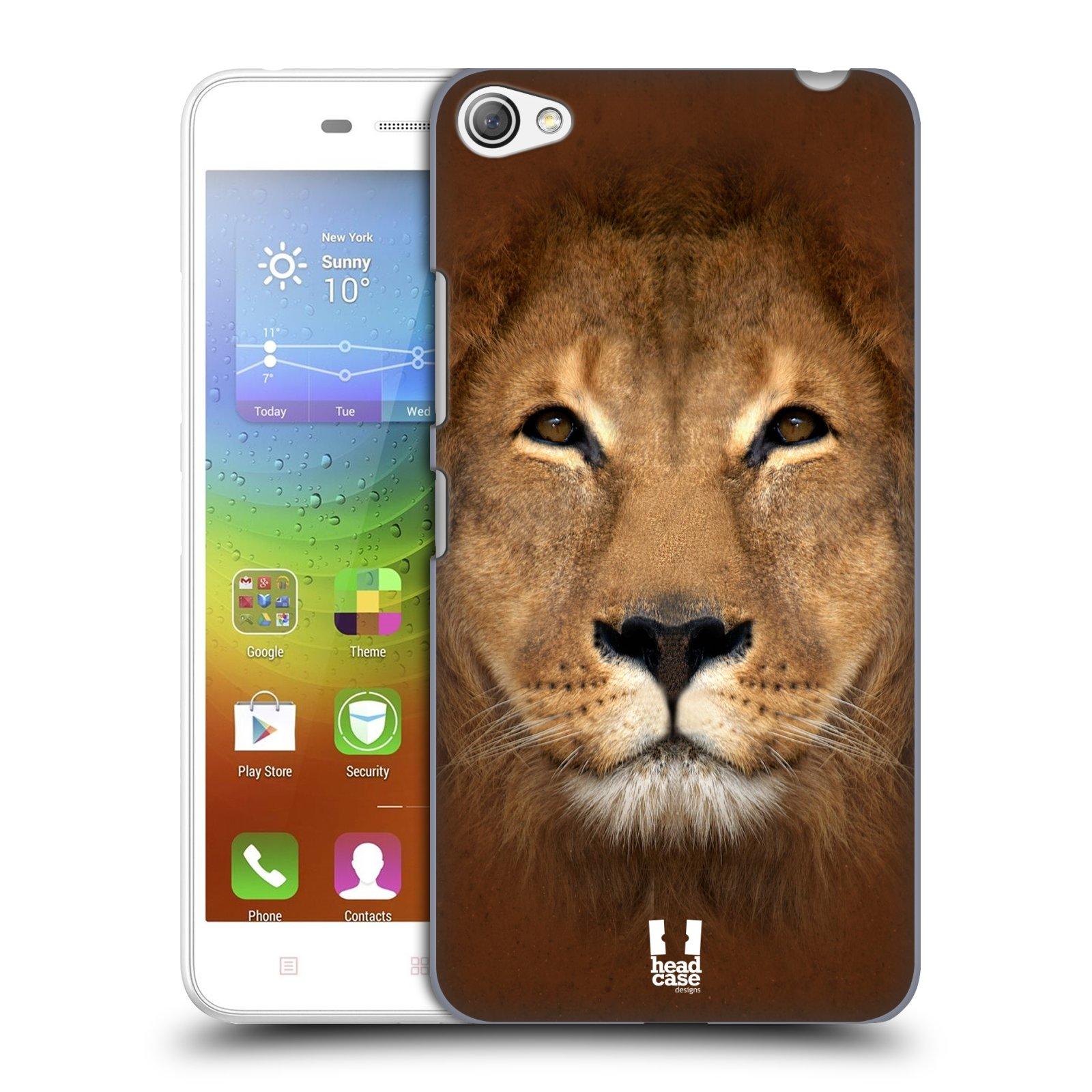 HEAD CASE pevný plastový obal na mobil LENOVO S60 / LENOVO S60 DUAL SIM vzor Zvířecí tváře 2 Lev