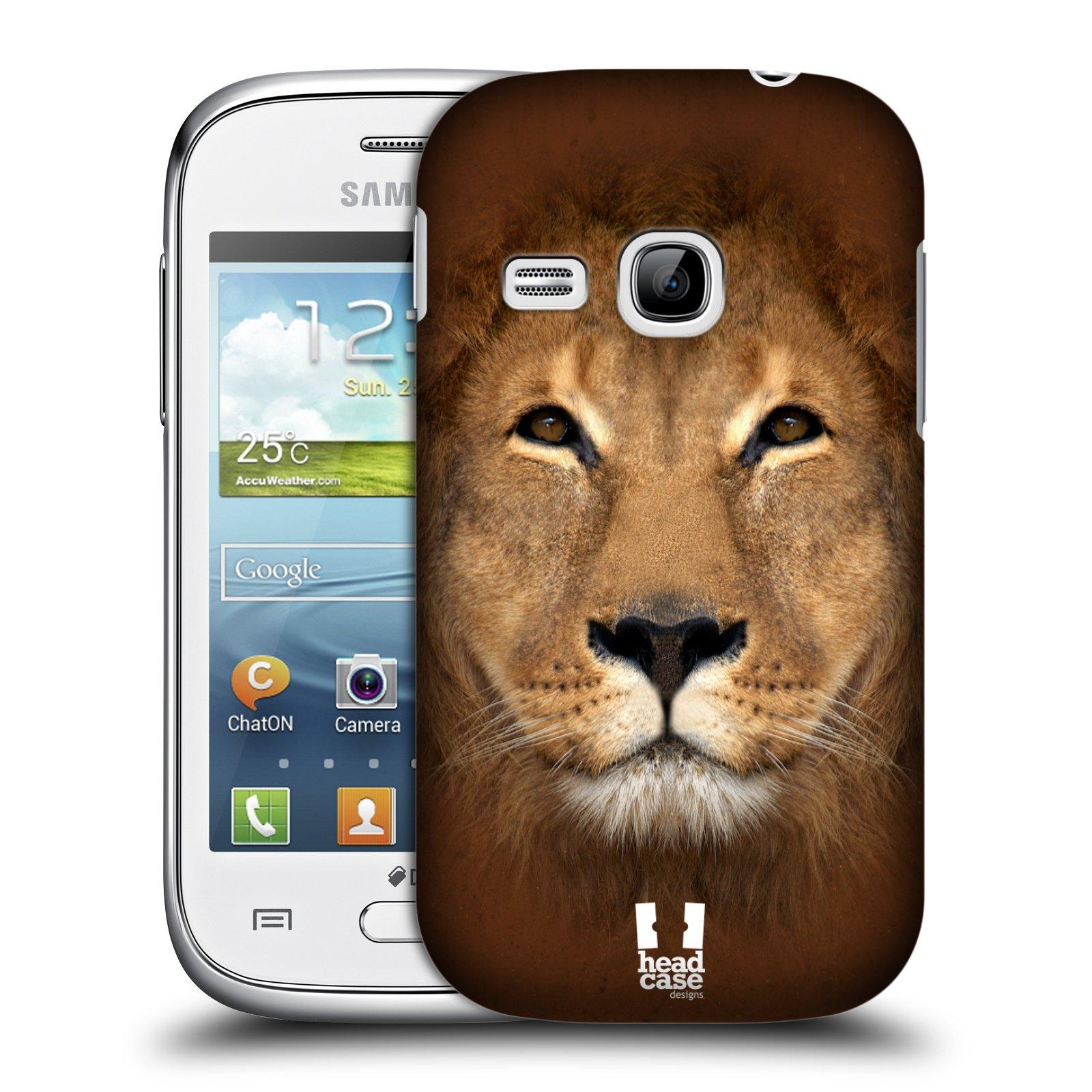 HEAD CASE plastový obal na mobil SAMSUNG Galaxy Young S6310 vzor Zvířecí tváře 2 Lev