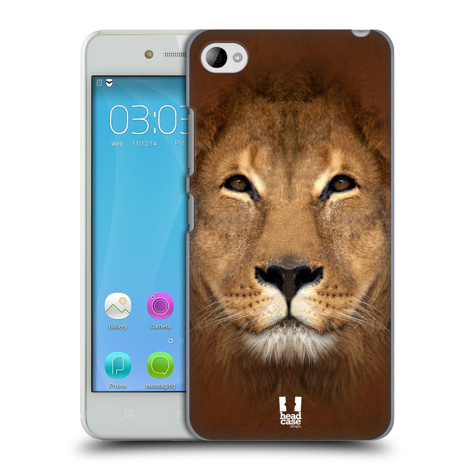 HEAD CASE pevný plastový obal na mobil LENOVO S90 vzor Zvířecí tváře 2 Lev