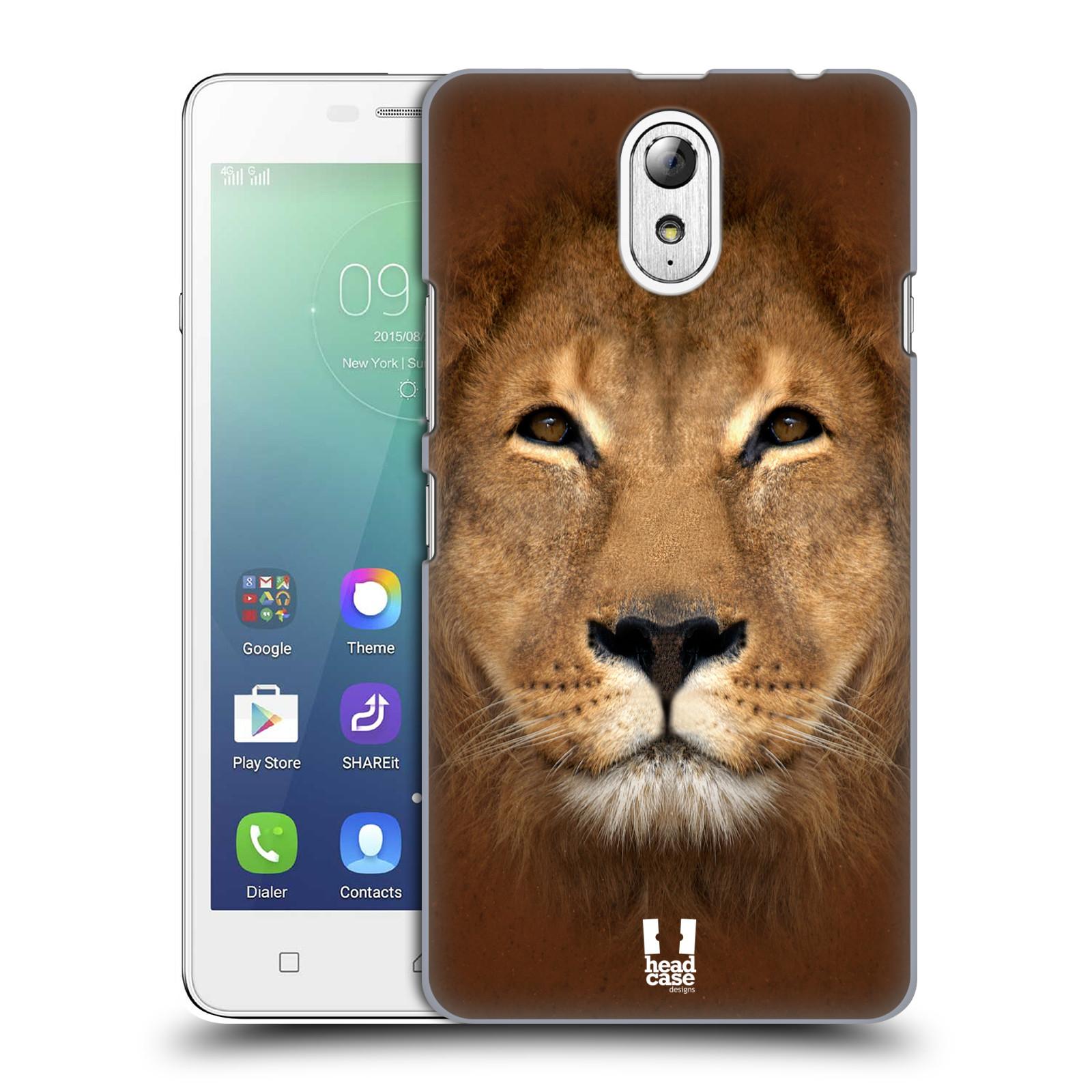 HEAD CASE pevný plastový obal na mobil LENOVO VIBE P1m / LENOVO VIBE p1m DUAL SIM vzor Zvířecí tváře 2 Lev