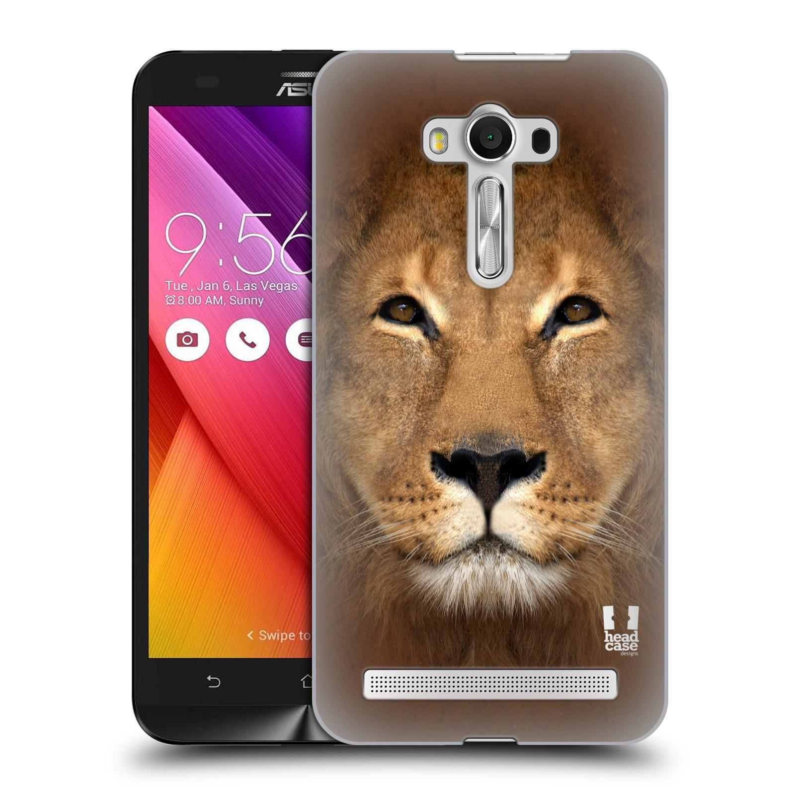 HEAD CASE plastový obal na mobil Asus Zenfone 2 LASER (5,5 displej ZE550KL) vzor Zvířecí tváře 2 Lev