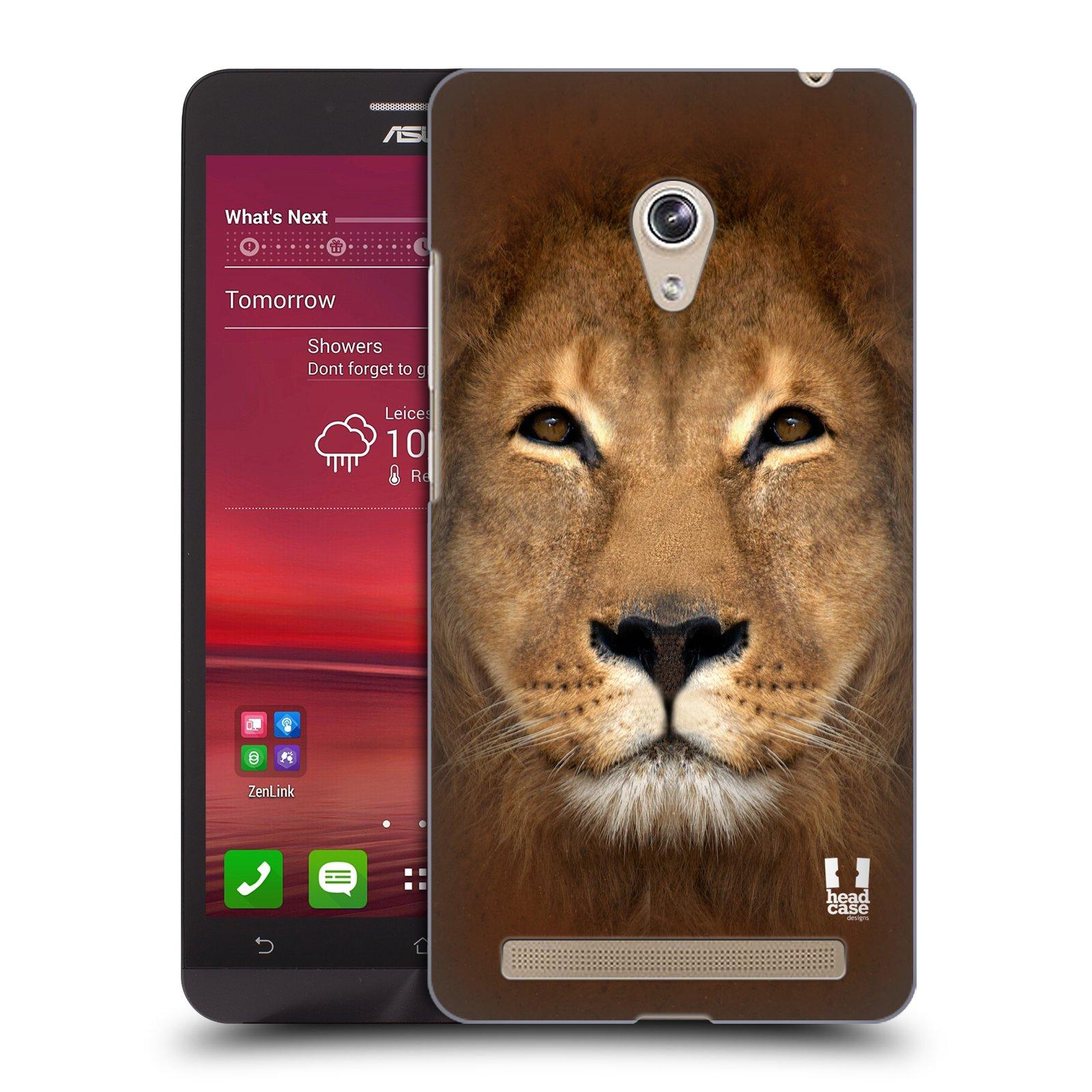 HEAD CASE plastový obal na mobil Asus Zenfone 6 vzor Zvířecí tváře 2 Lev