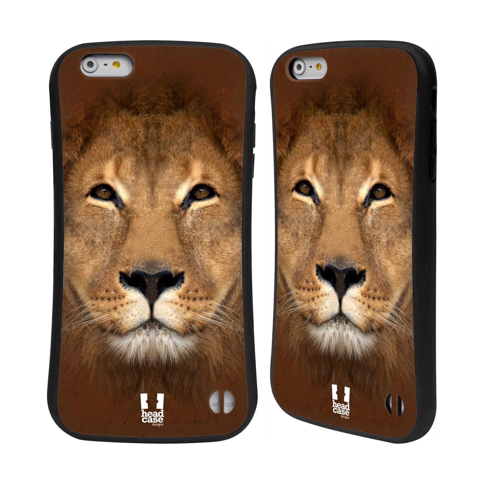 HEAD CASE silikon/plast odolný obal na mobil Apple Iphone 6 PLUS / 6S PLUS vzor Zvířecí tváře 2 Lev