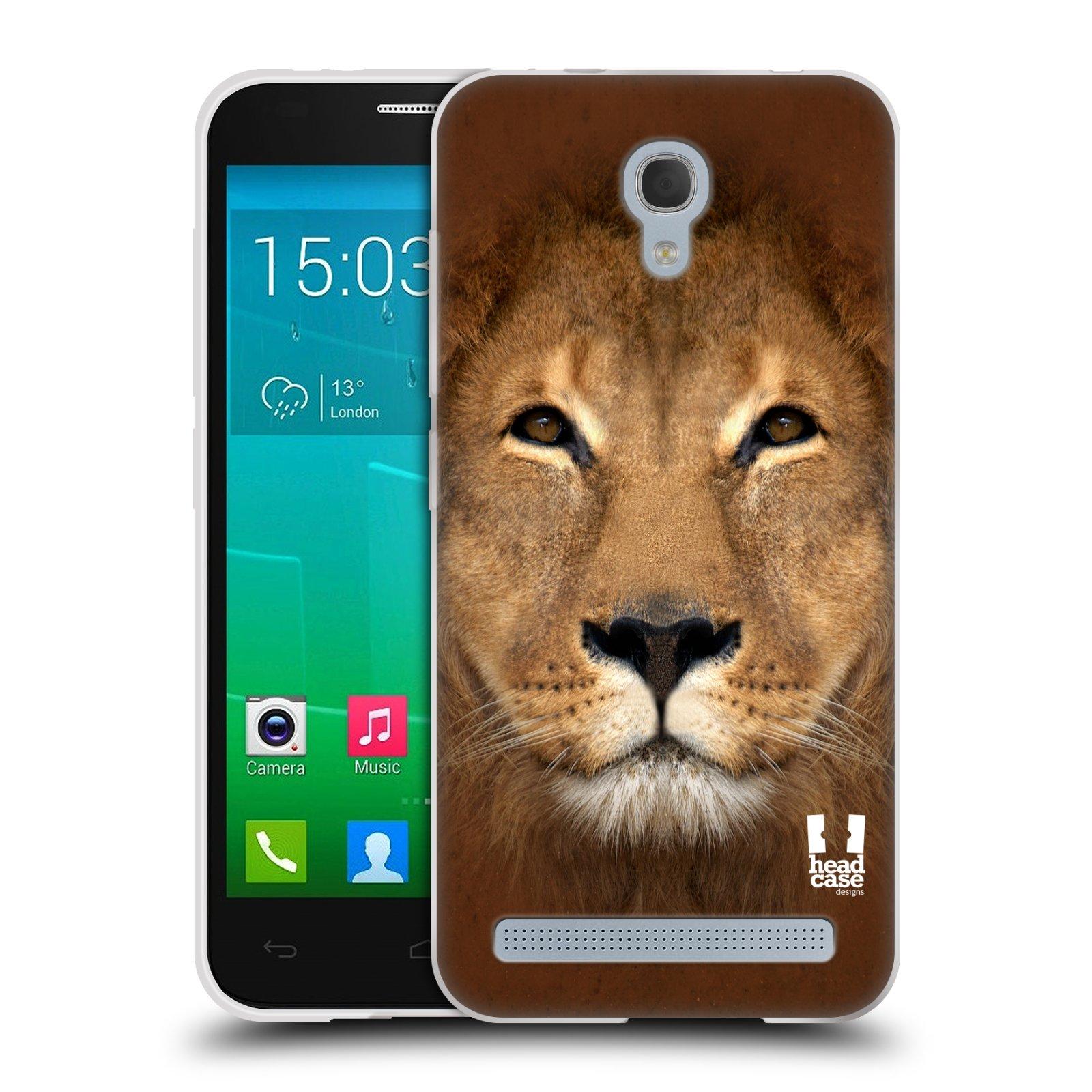 HEAD CASE silikonový obal na mobil Alcatel Idol 2 MINI S 6036Y vzor Zvířecí tváře 2 Lev