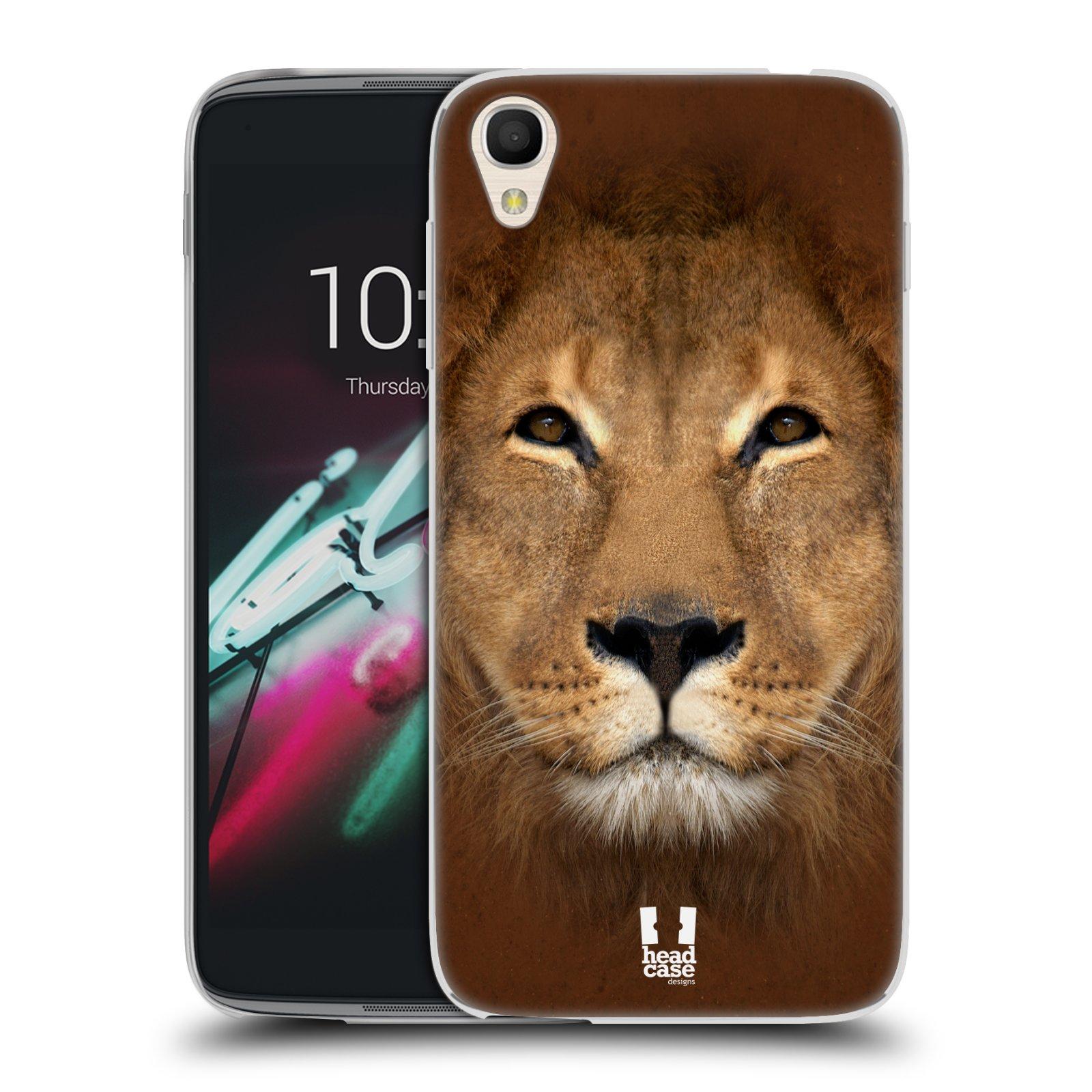 HEAD CASE silikonový obal na mobil Alcatel Idol 3 OT-6039Y (4.7) vzor Zvířecí tváře 2 Lev