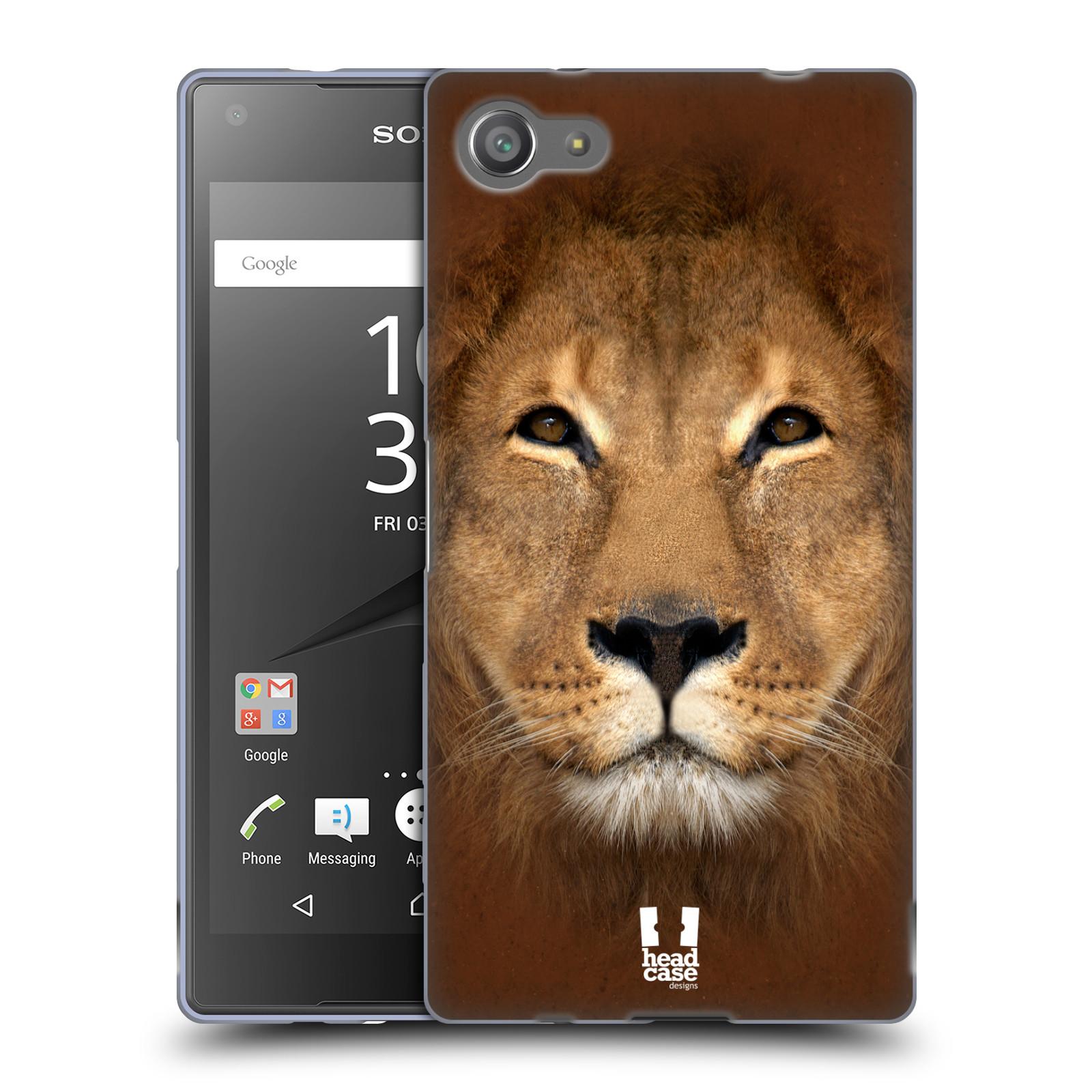 HEAD CASE silikonový obal na mobil Sony Xperia Z5 COMPACT vzor Zvířecí tváře 2 Lev
