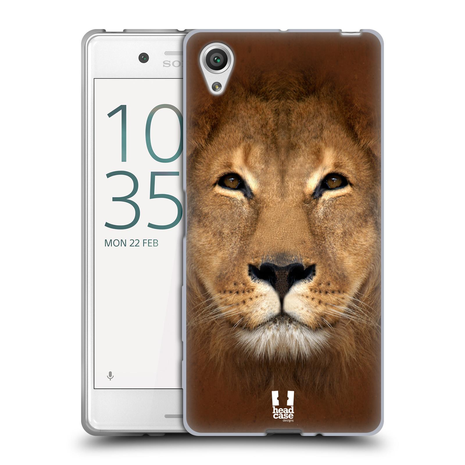 HEAD CASE silikonový obal na mobil Sony Xperia X / X DUAL vzor Zvířecí tváře 2 Lev