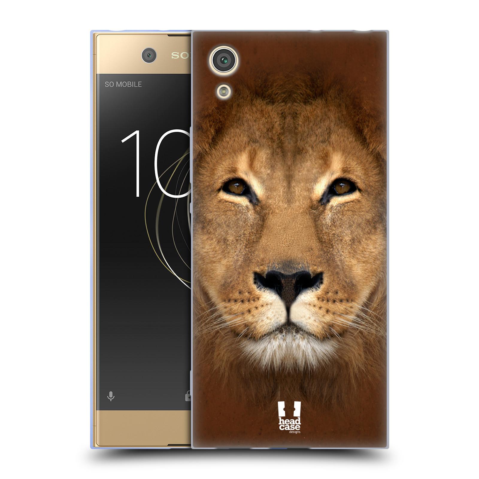 HEAD CASE silikonový obal na mobil Sony Xperia XA1 / XA1 DUAL SIM vzor Zvířecí tváře 2 Lev