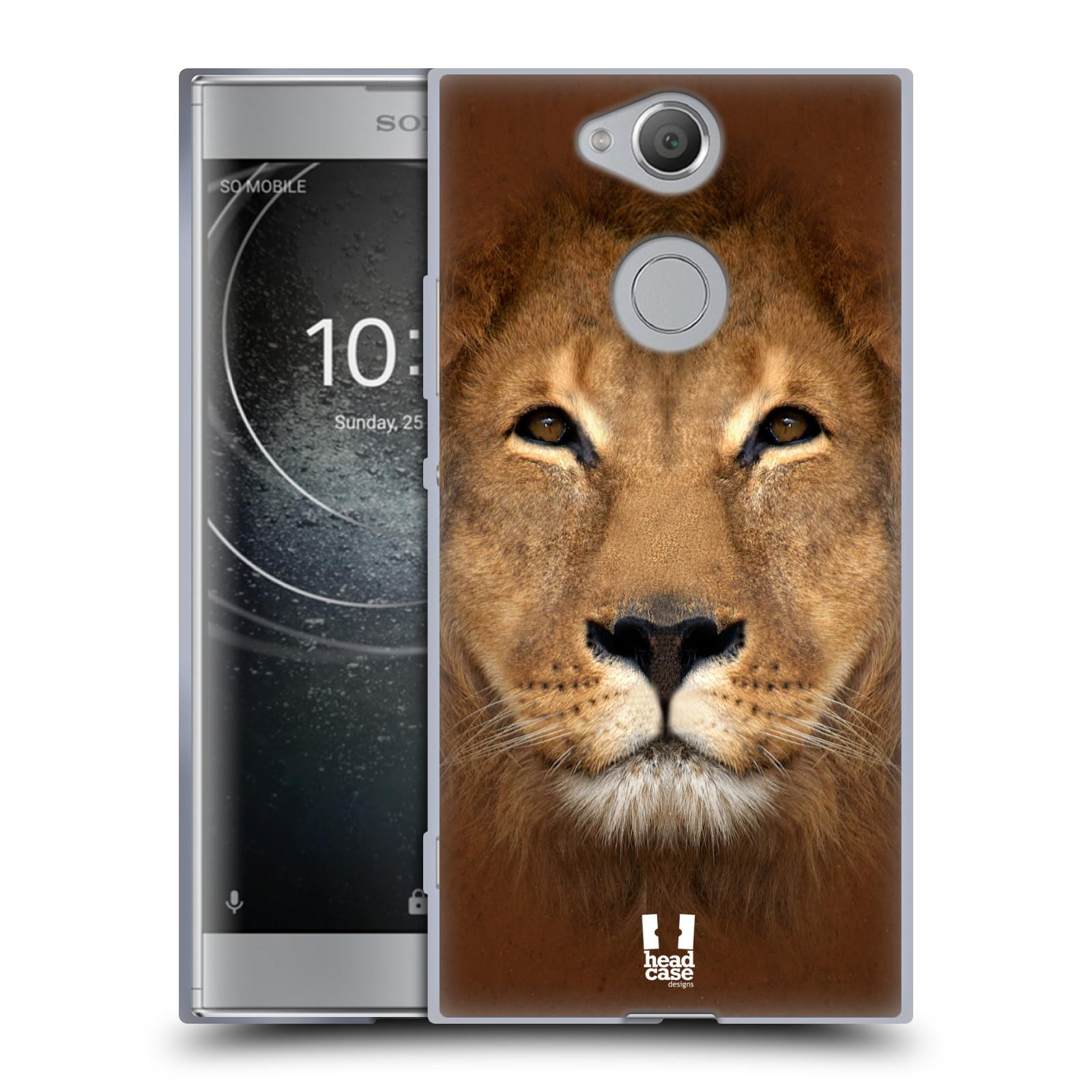 Pouzdro na mobil Sony Xperia XA2 (DUAL SIM, SINGLE SIM) vzor Zvířecí tváře 2 Lev