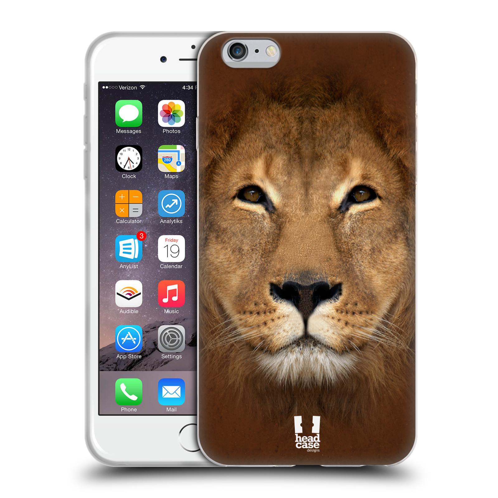 HEAD CASE silikonový obal na mobil Apple Iphone 6 PLUS/ 6S PLUS vzor Zvířecí tváře 2 Lev