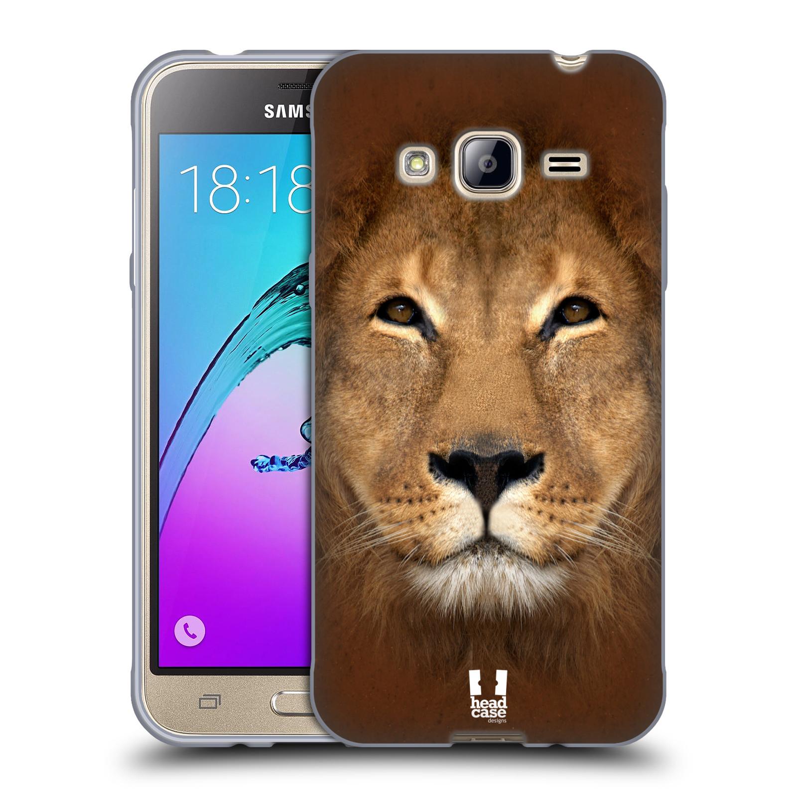 HEAD CASE silikonový obal na mobil Samsung Galaxy J3, J3 2016 vzor Zvířecí tváře 2 Lev