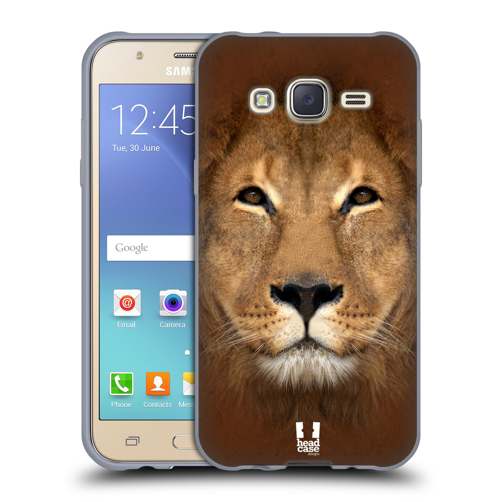 HEAD CASE silikonový obal na mobil Samsung Galaxy J5, J500, (J5 DUOS) vzor Zvířecí tváře 2 Lev