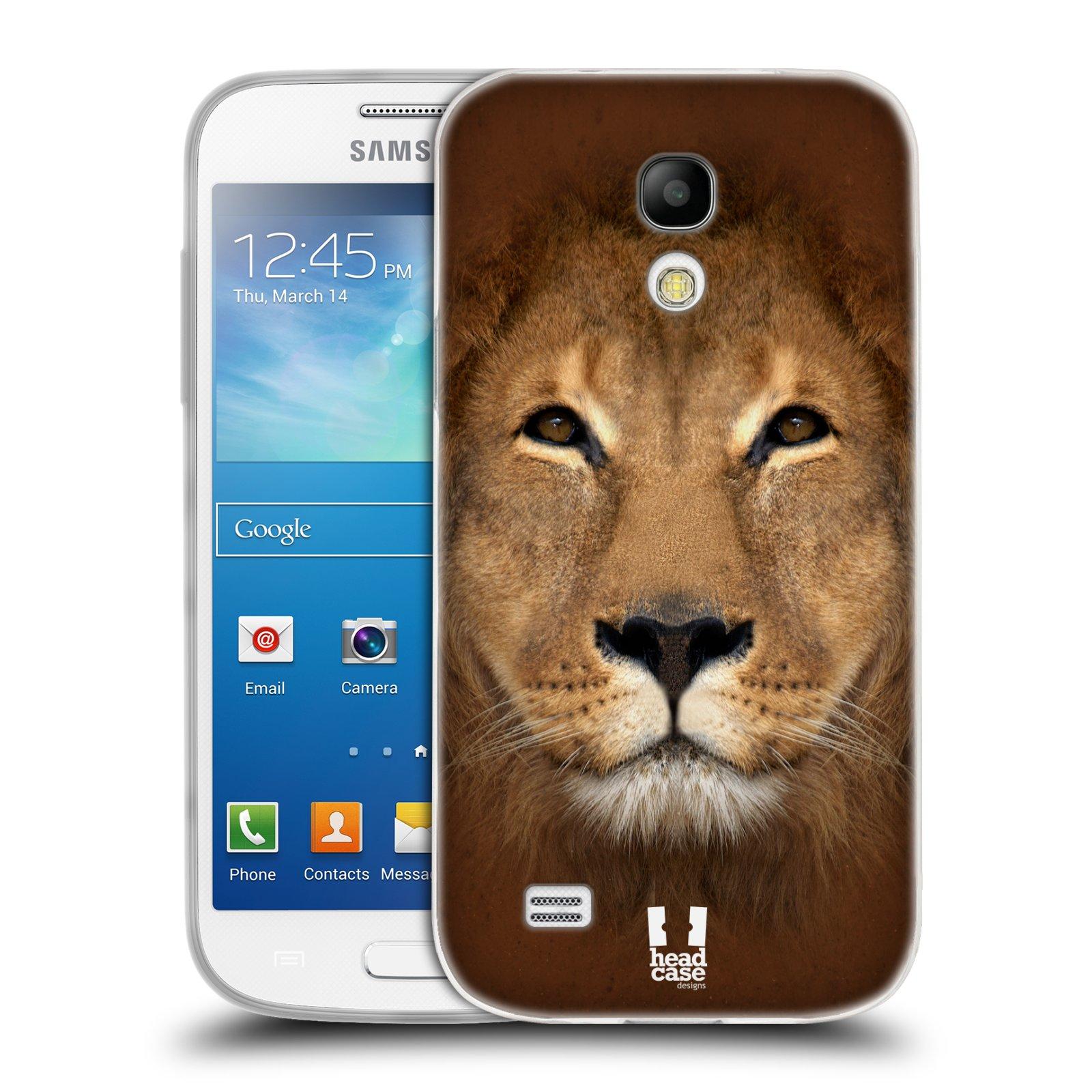 HEAD CASE silikonový obal na mobil Samsung Galaxy S4 MINI vzor Zvířecí tváře 2 Lev