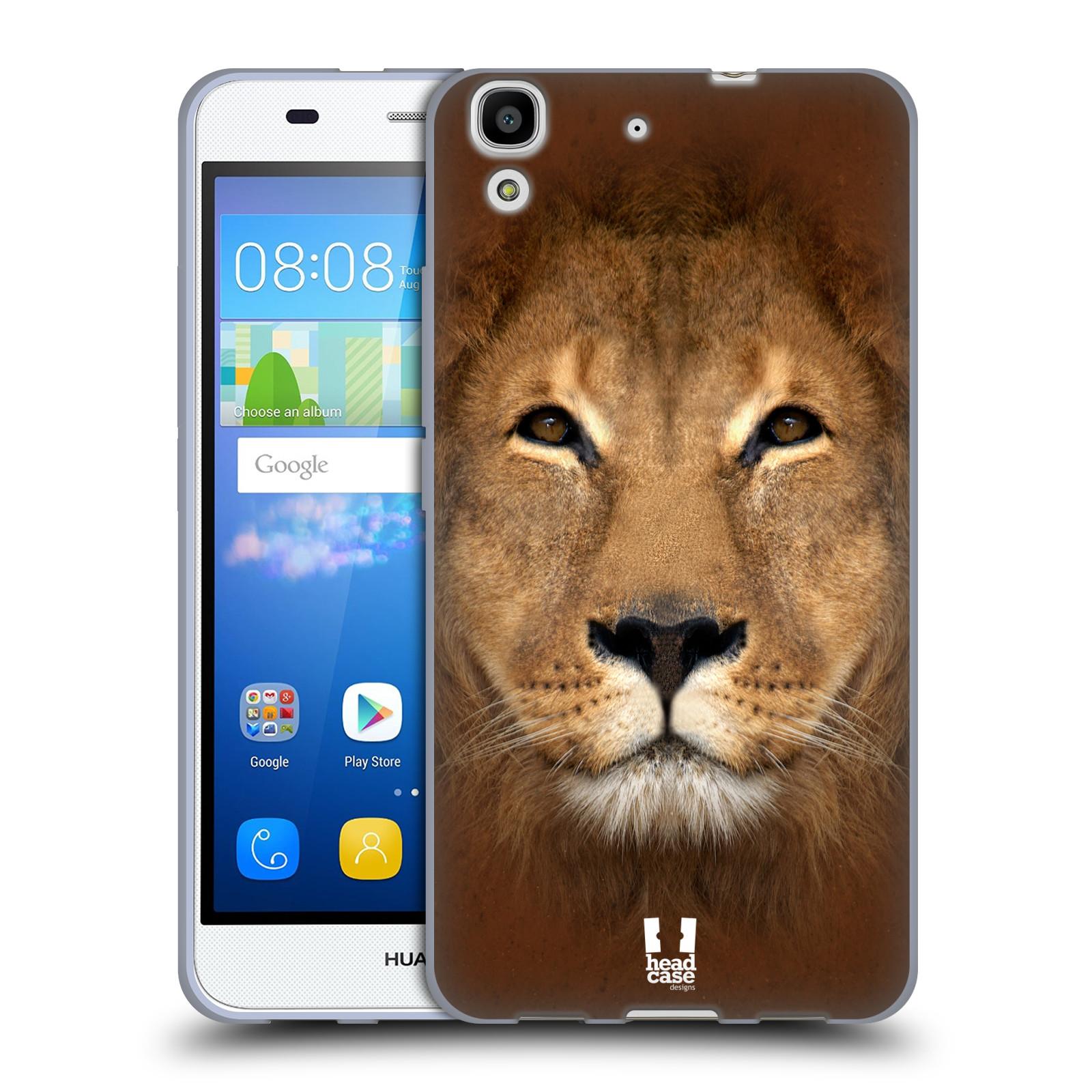 HEAD CASE silikonový obal na mobil HUAWEI Y6 vzor Zvířecí tváře 2 Lev