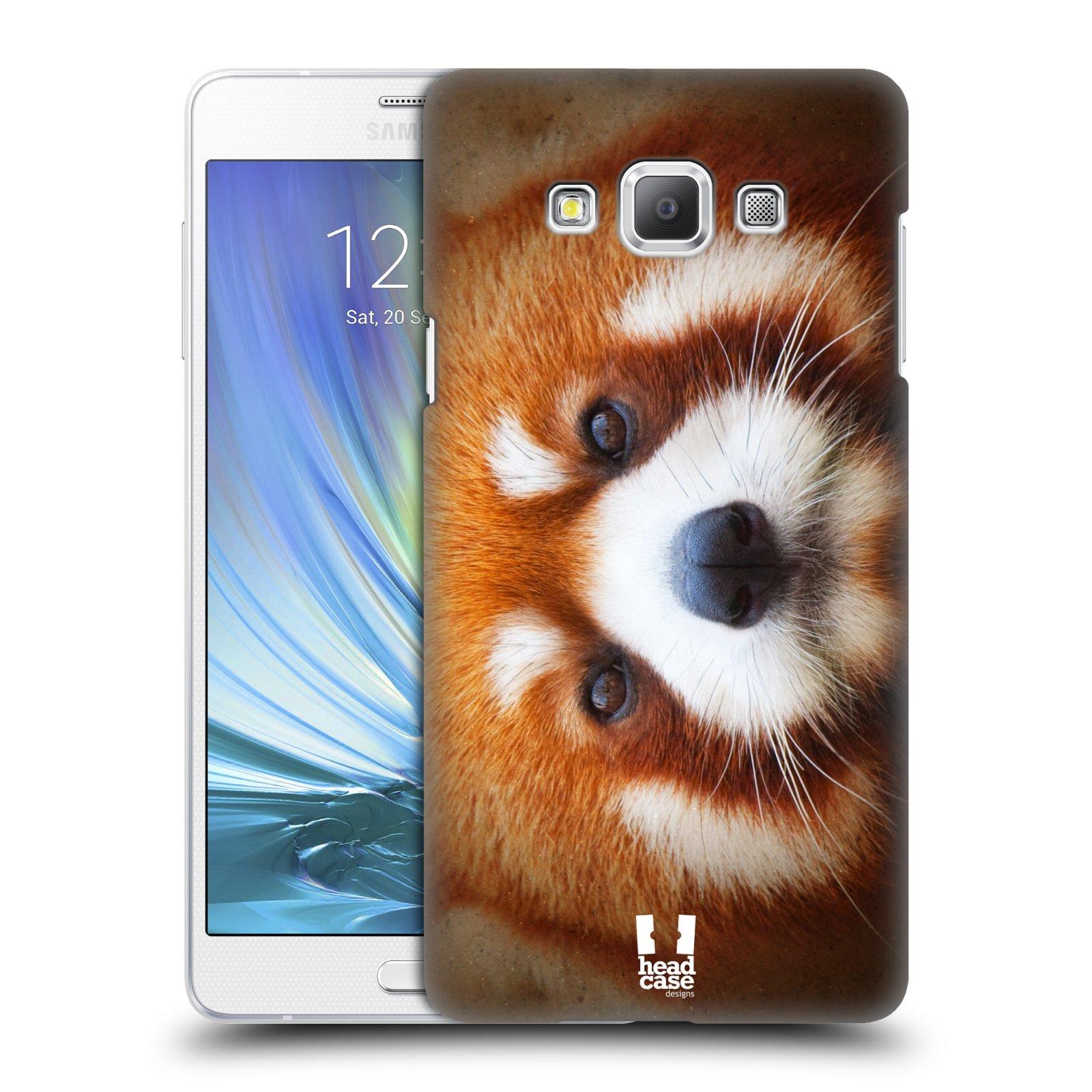 HEAD CASE plastový obal na mobil SAMSUNG GALAXY A7 vzor Zvířecí tváře 2 medvěd panda rudá