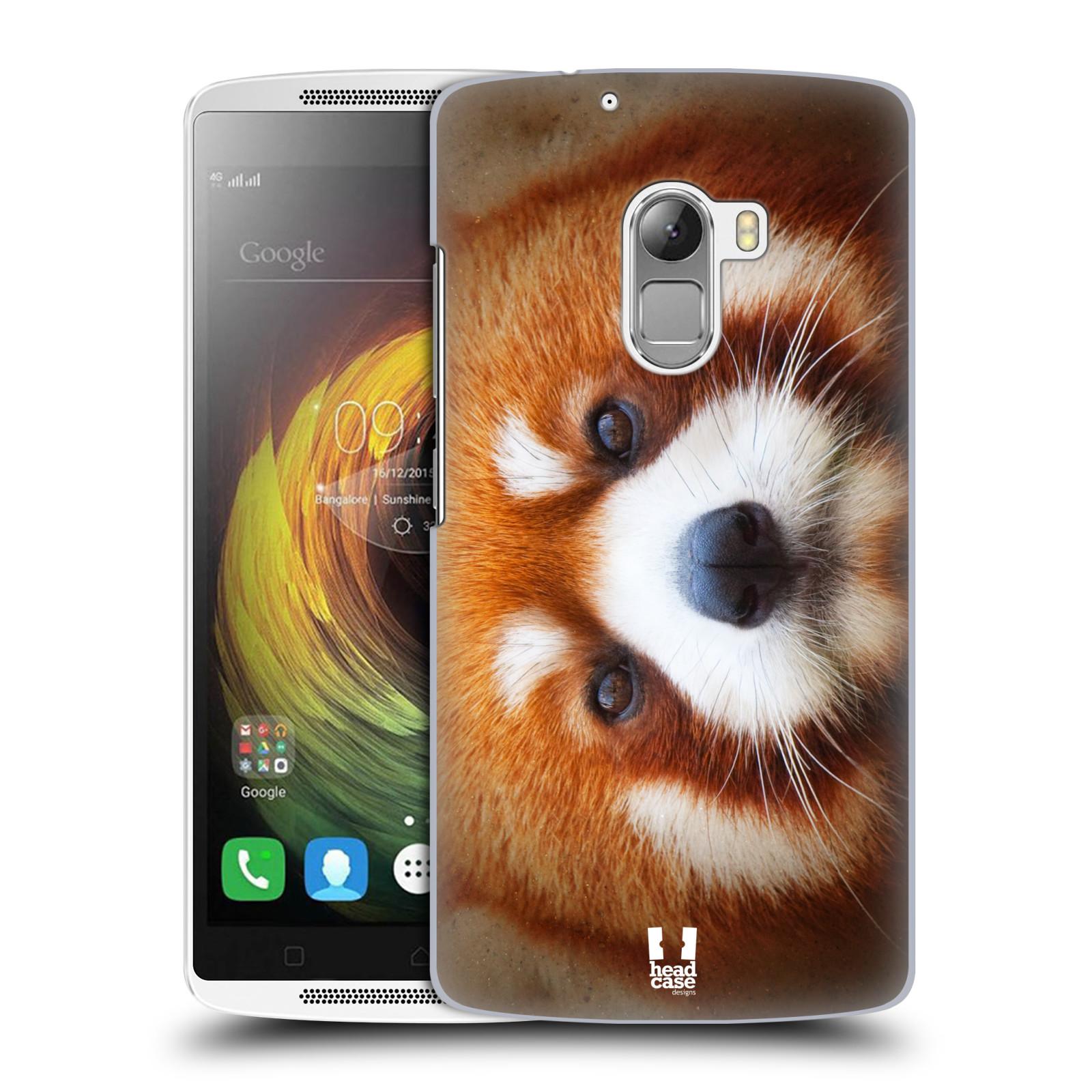 HEAD CASE pevný plastový obal na mobil LENOVO A7010 / A7010 DUAL / K4 Note / Vibe X3 lite vzor Zvířecí tváře 2 medvěd panda rudá