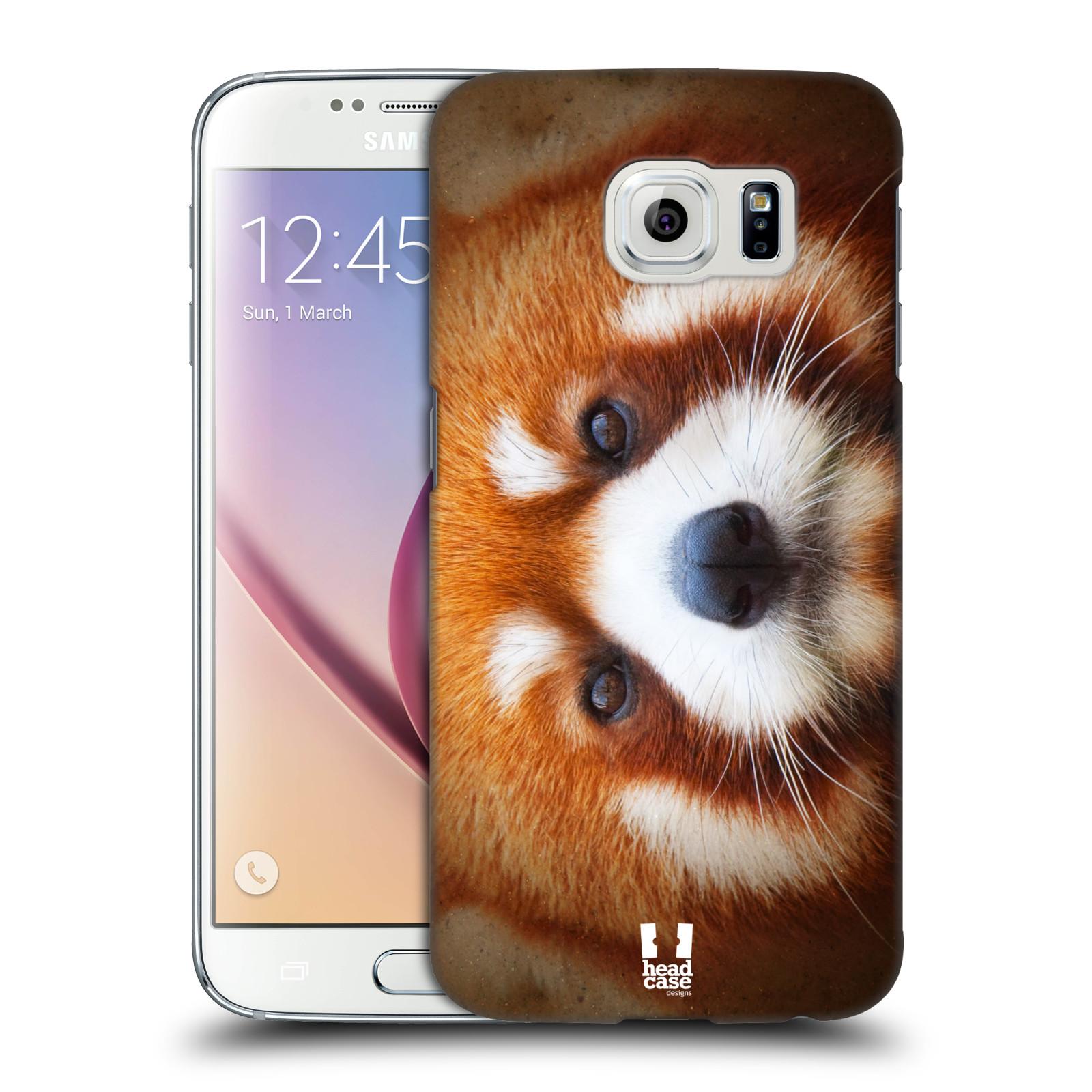 HEAD CASE plastový obal na mobil SAMSUNG Galaxy S6 (G9200, G920F) vzor Zvířecí tváře 2 medvěd panda rudá