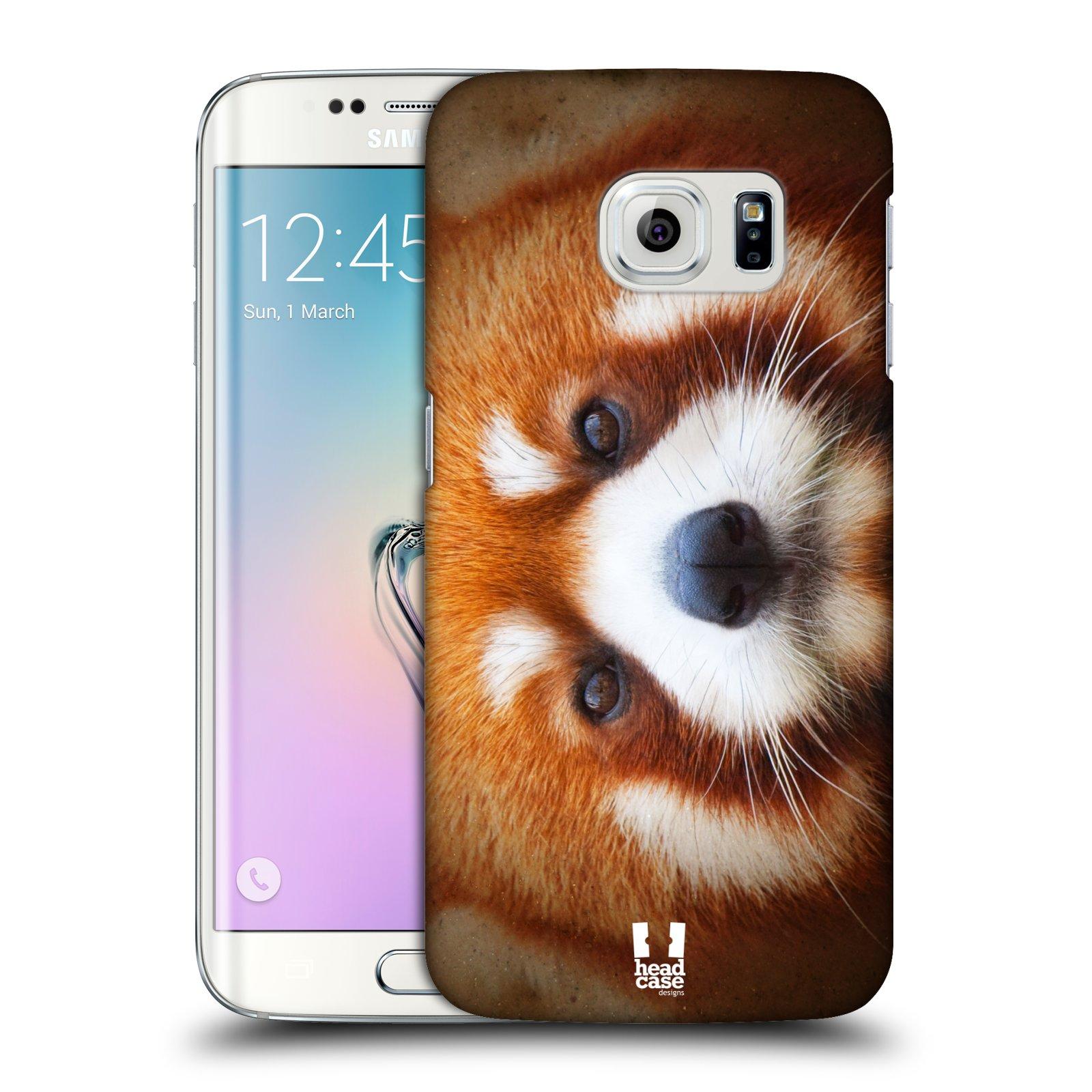 HEAD CASE plastový obal na mobil SAMSUNG Galaxy S6 EDGE (G9250, G925, G925F) vzor Zvířecí tváře 2 medvěd panda rudá