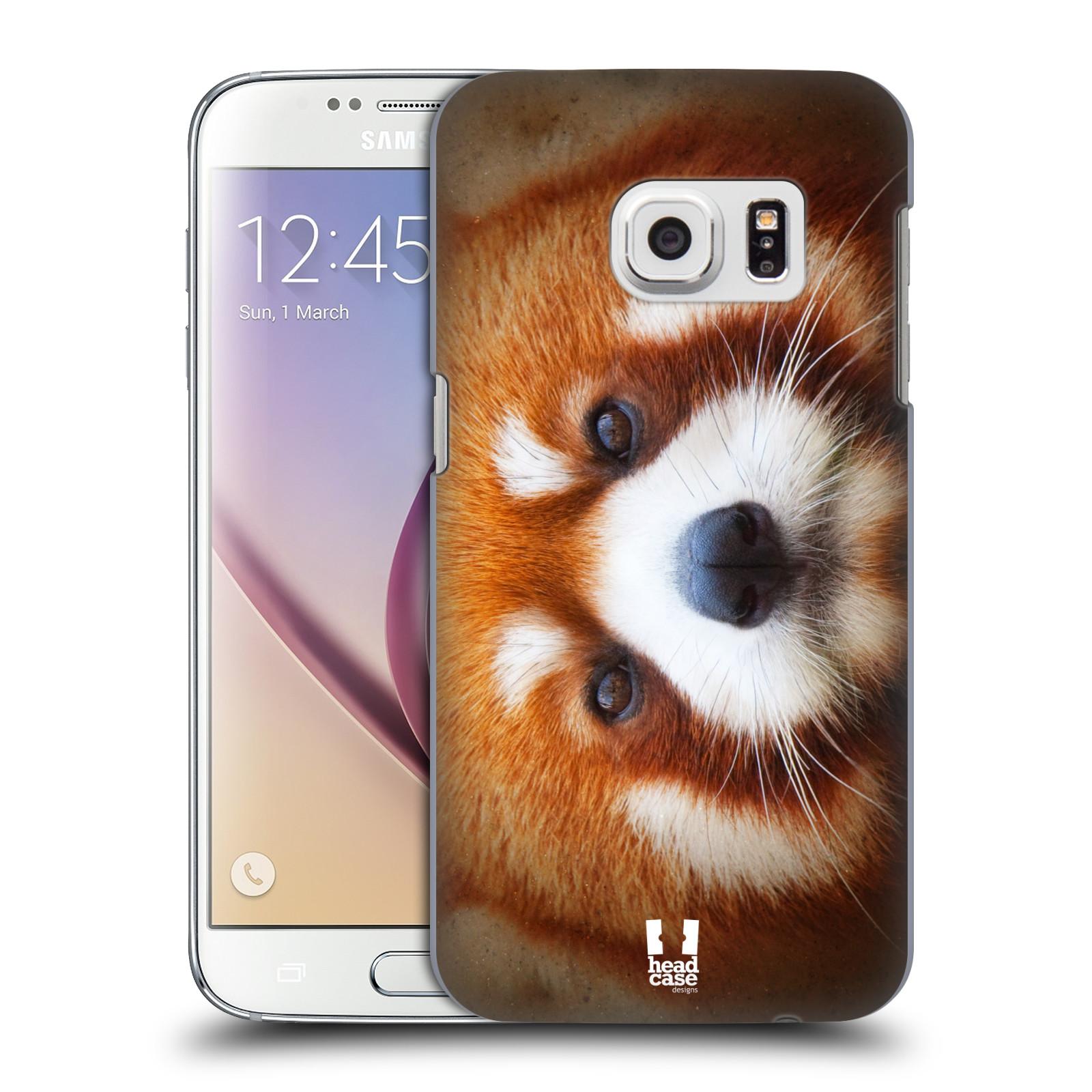 HEAD CASE plastový obal na mobil SAMSUNG GALAXY S7 vzor Zvířecí tváře 2 medvěd panda rudá