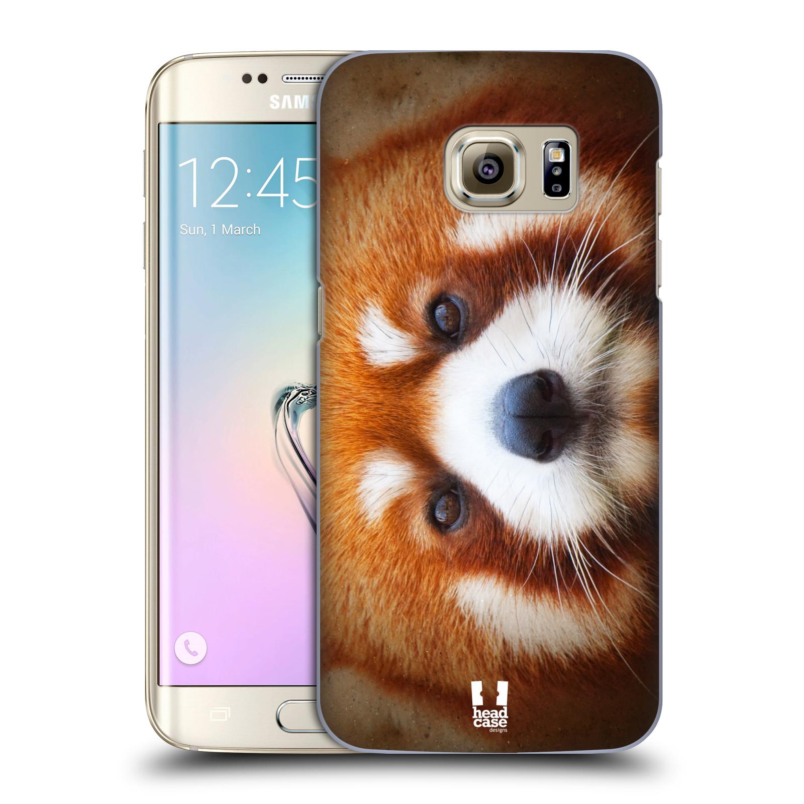 HEAD CASE plastový obal na mobil SAMSUNG GALAXY S7 EDGE vzor Zvířecí tváře 2 medvěd panda rudá