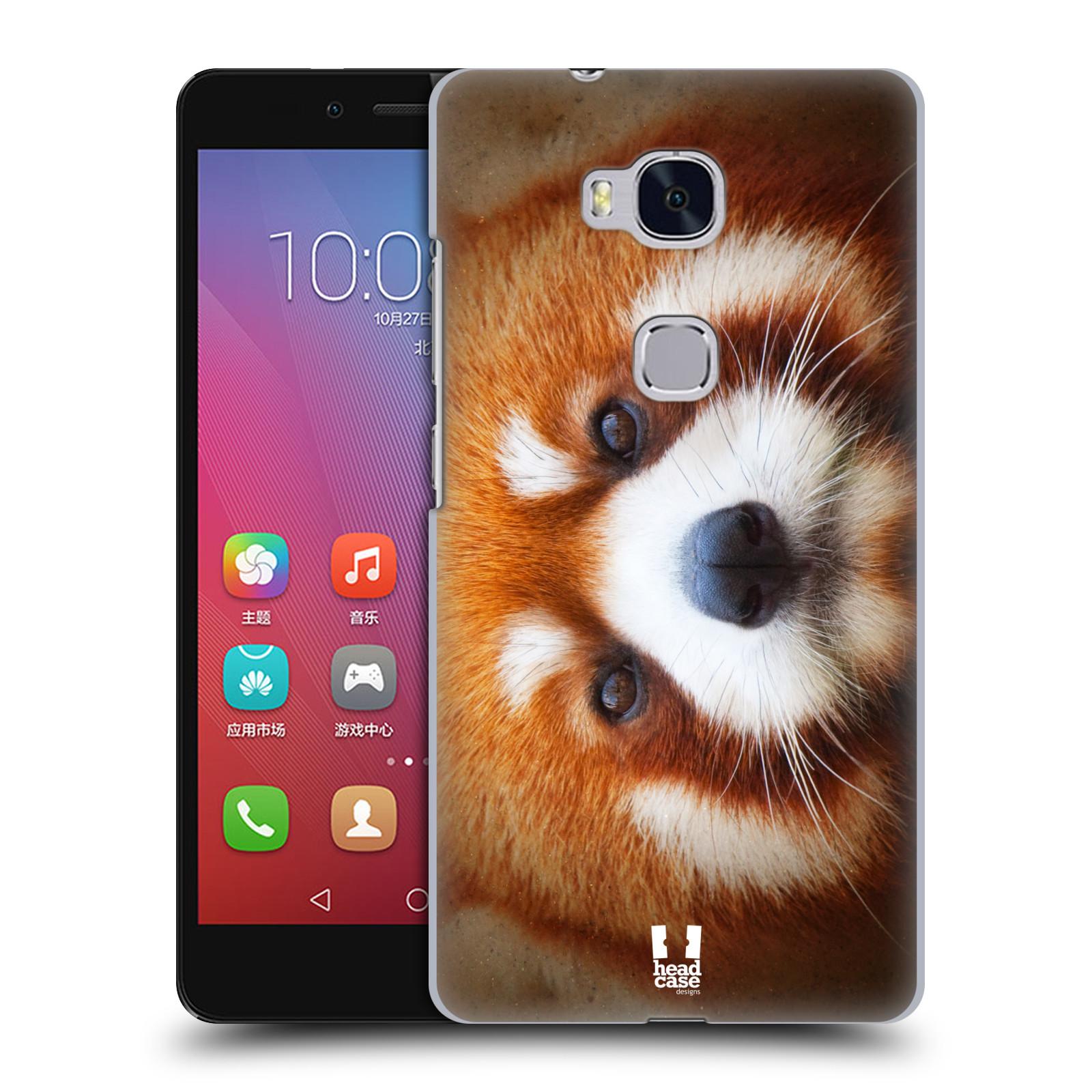HEAD CASE pevný plastový obal na mobil HUAWEI HONOR 5X vzor Zvířecí tváře 2 medvěd panda rudá