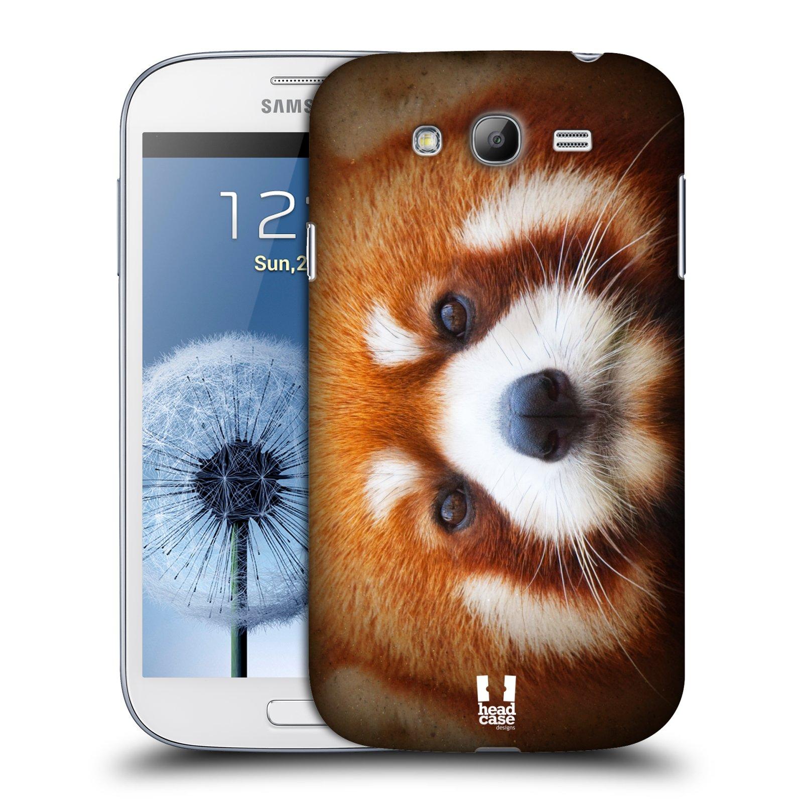 HEAD CASE plastový obal na mobil SAMSUNG GALAXY Grand i9080 vzor Zvířecí tváře 2 medvěd panda rudá