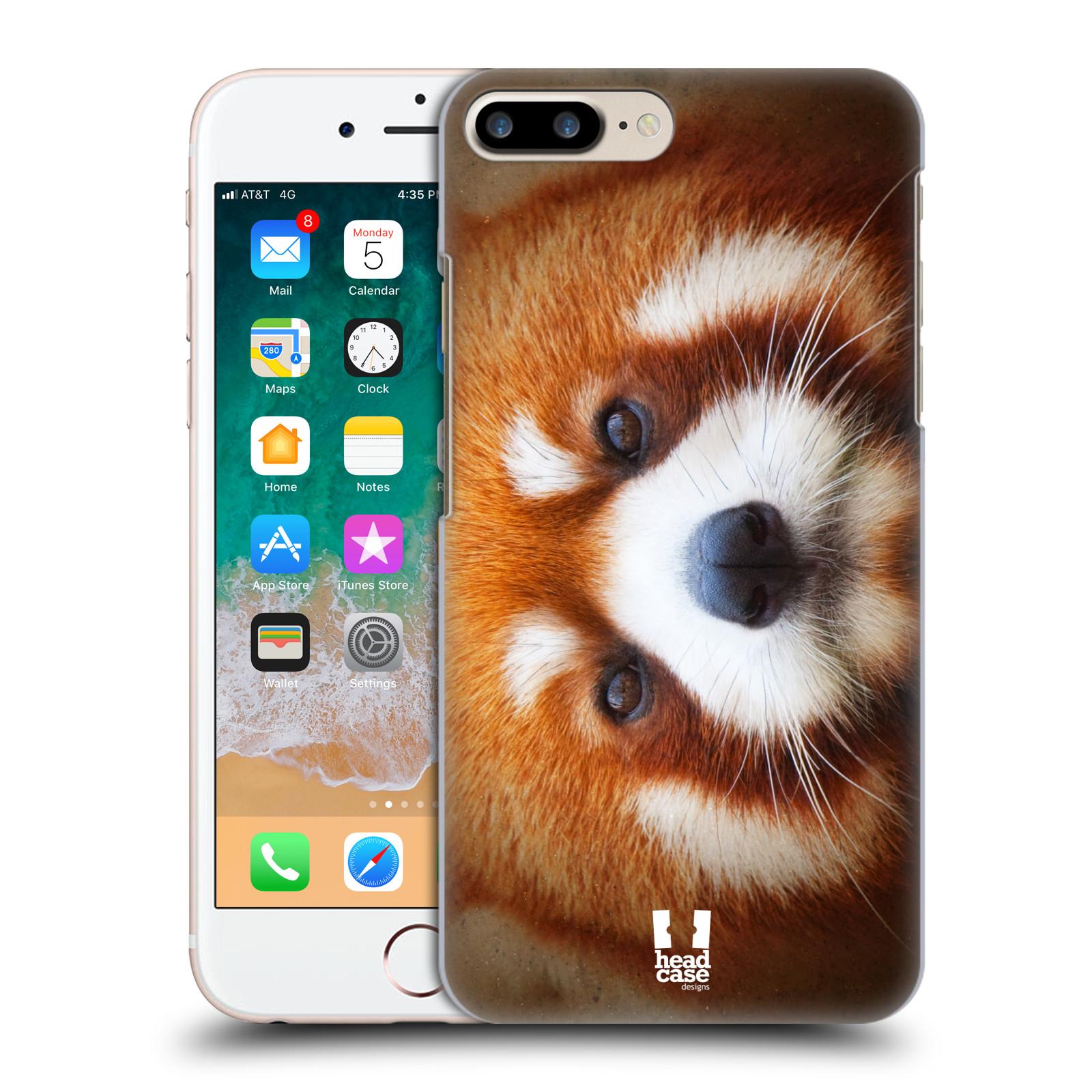 HEAD CASE plastový obal na mobil Apple Iphone 7 PLUS vzor Zvířecí tváře 2 medvěd panda rudá