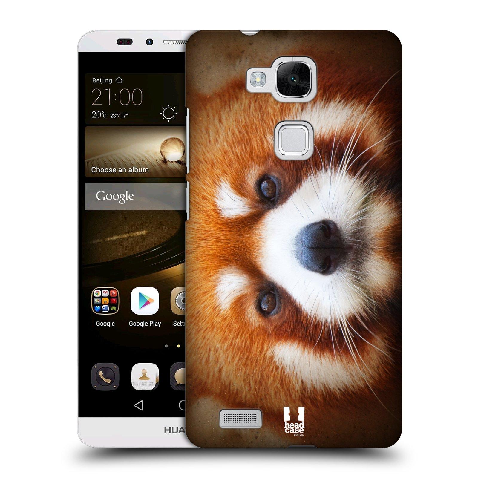 HEAD CASE plastový obal na mobil Huawei Mate 7 vzor Zvířecí tváře 2 medvěd panda rudá