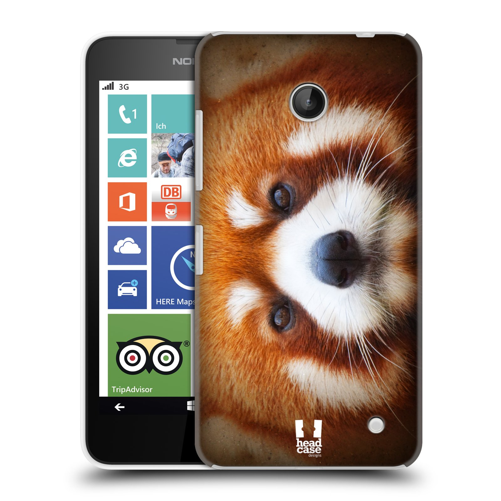 HEAD CASE ANIMAL FACES SERIES 2 SNAP-ON BACK COVER FOR NOKIA LUMIA 635